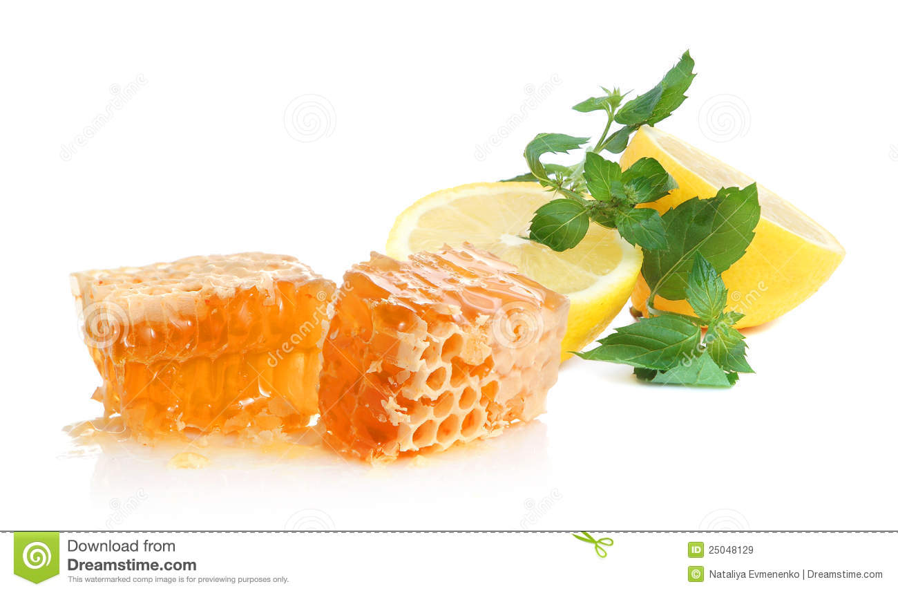 Lemon, Honey And Mint Royalty Free Stock Images - Image: 25048129