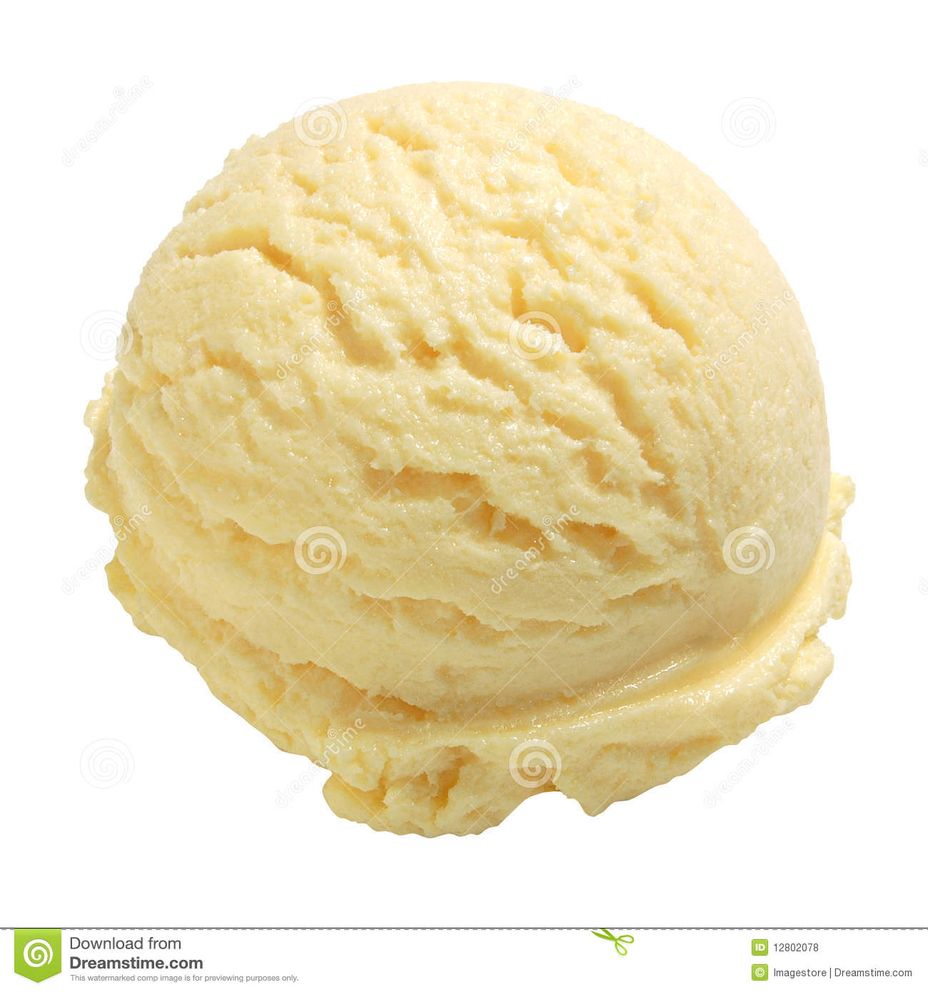 Lemon Ice Cream Royalty Free Stock Photos - Image: 12802078