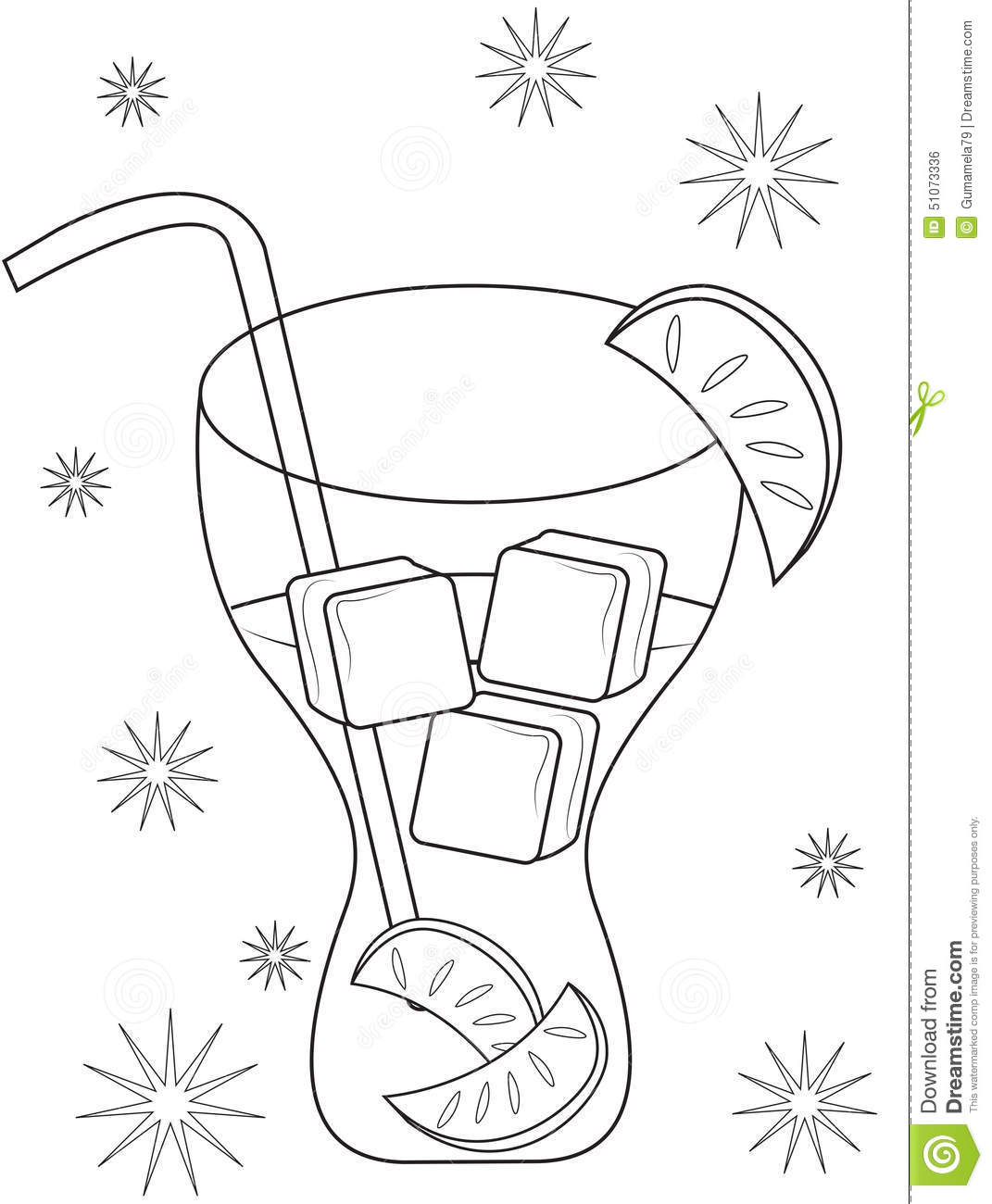 Colouring in juice - Lemon Juice Coloring Page