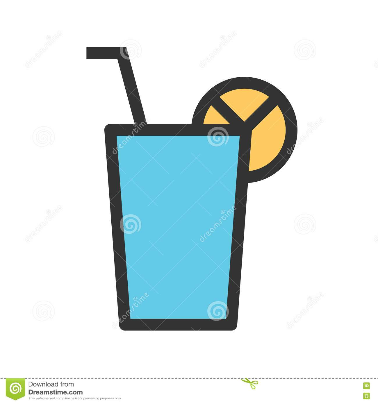 Lemon Juice stock vector  Illustration of water, party