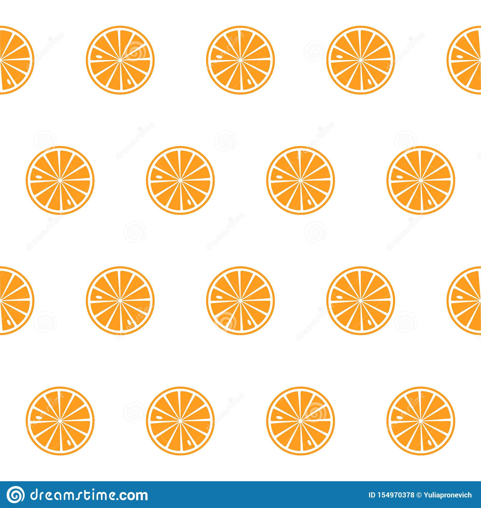 Lemon, lime, orange slices on a white background. Vector.