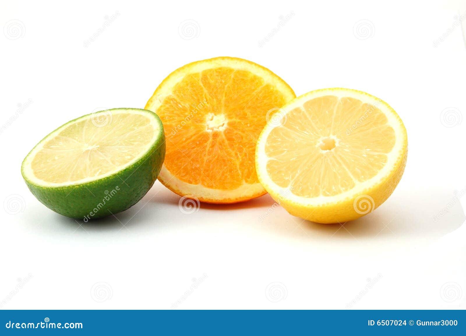Lemon Orange And Citro... Quarter Lemon