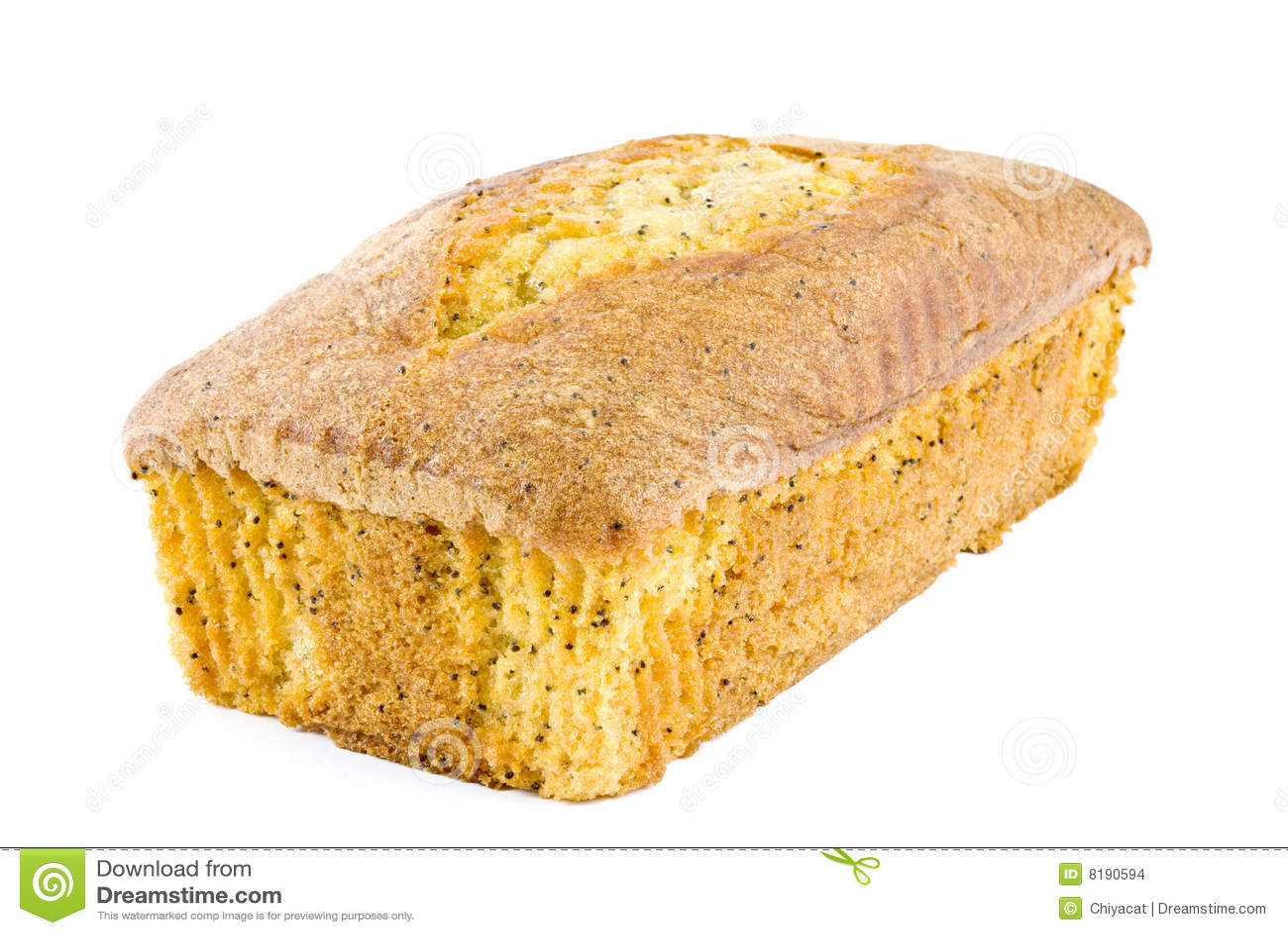 Lemon Poppy Seed Cake Stock Images - Image: 8190594