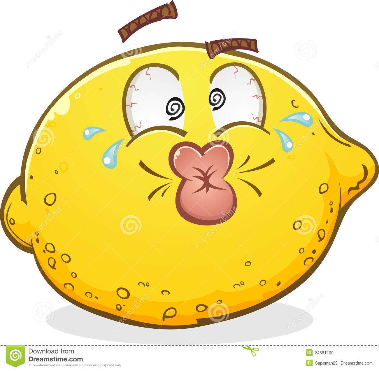 Lemon Pucker Character Royalty Free Stock Images - Image: 24681109