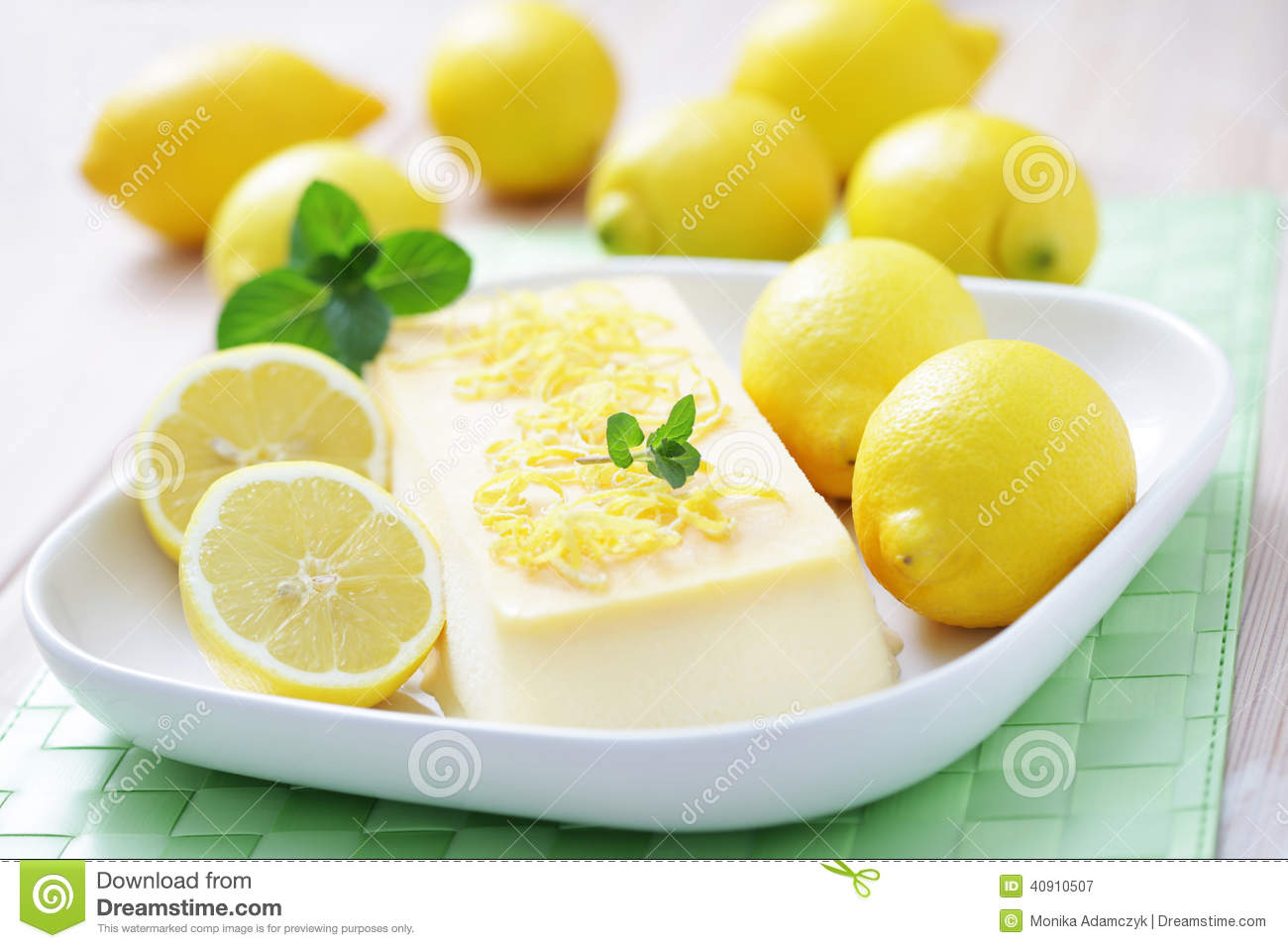 Lemon Semifreddo Stock Photo - Image: 40910507