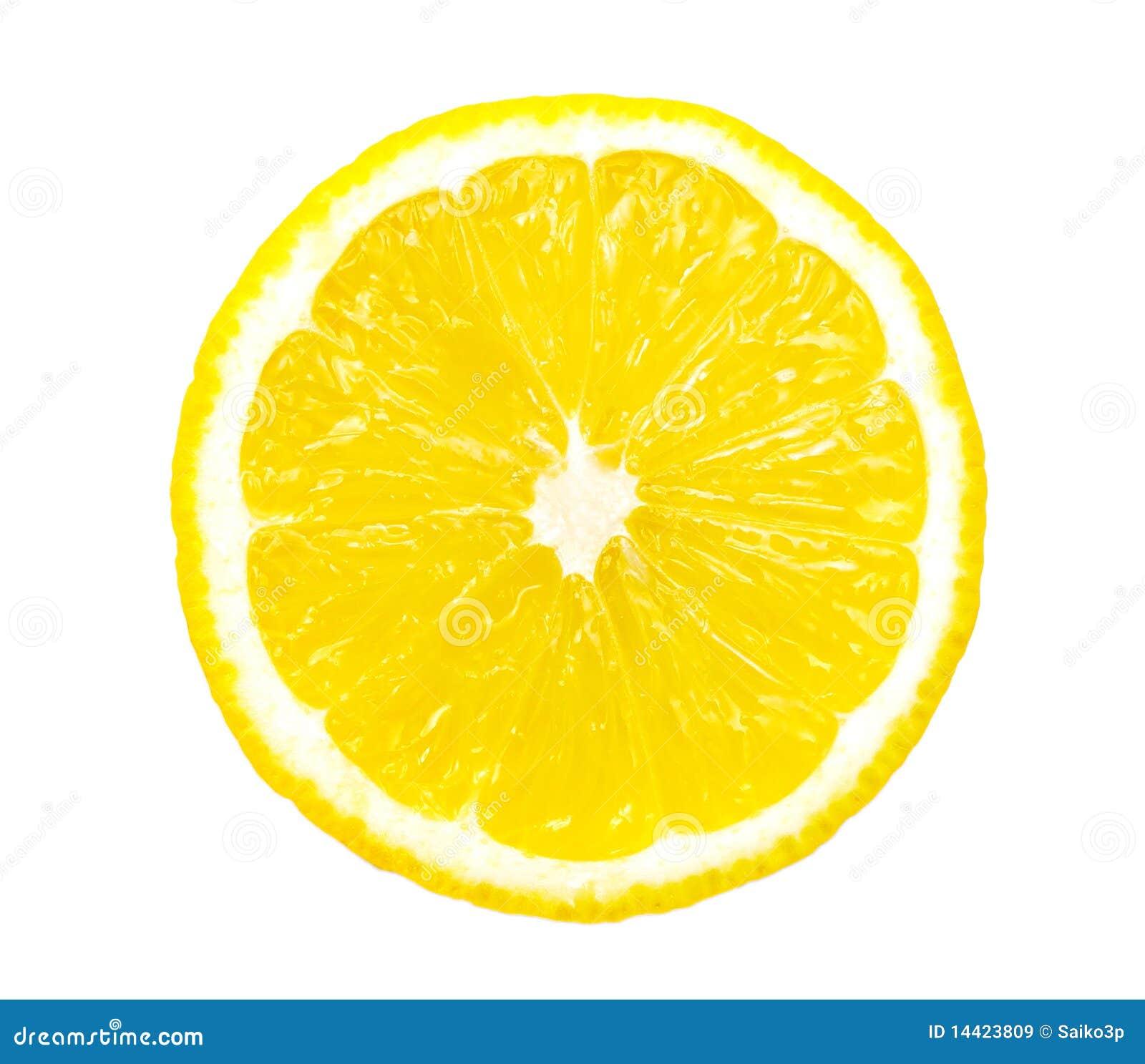 Lemon slice isolated  Lemon