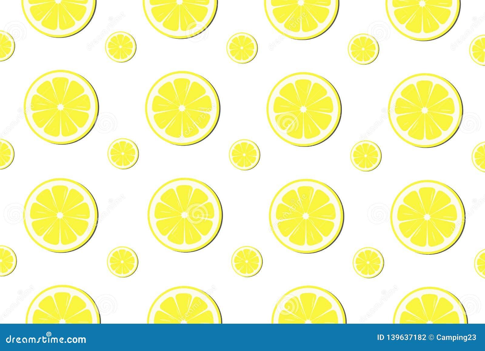 Lemon slice pattern background - Vector