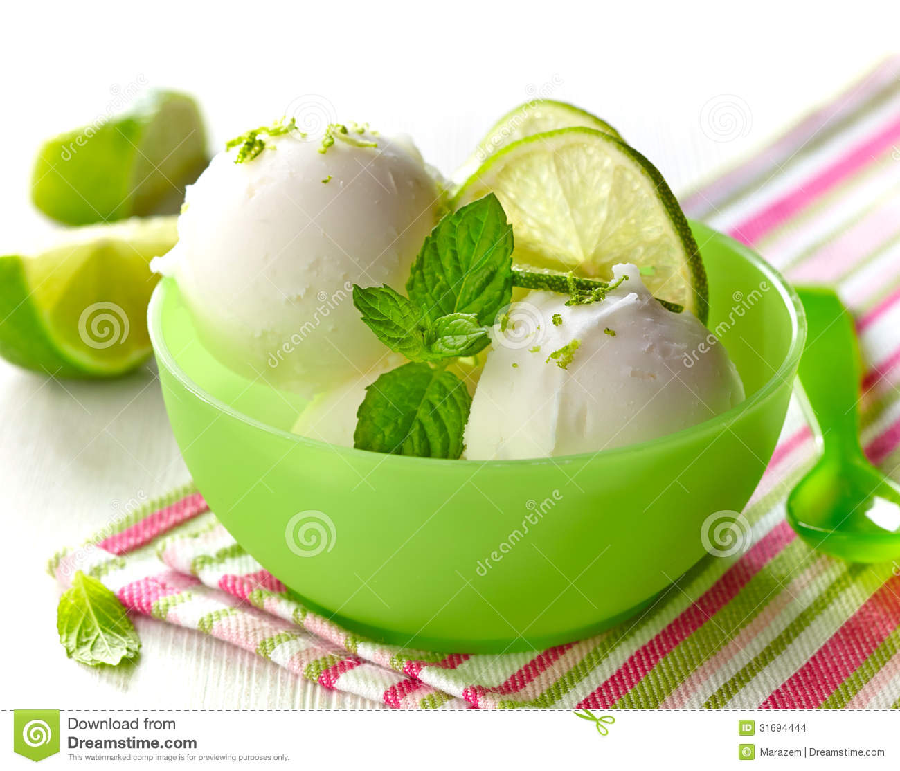 Lemon Sorbet Stock Images - Image: 31694444