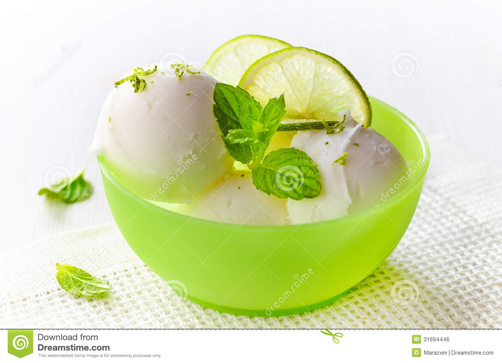 Lemon Sorbet Royalty Free Stock Image - Image: 31694446