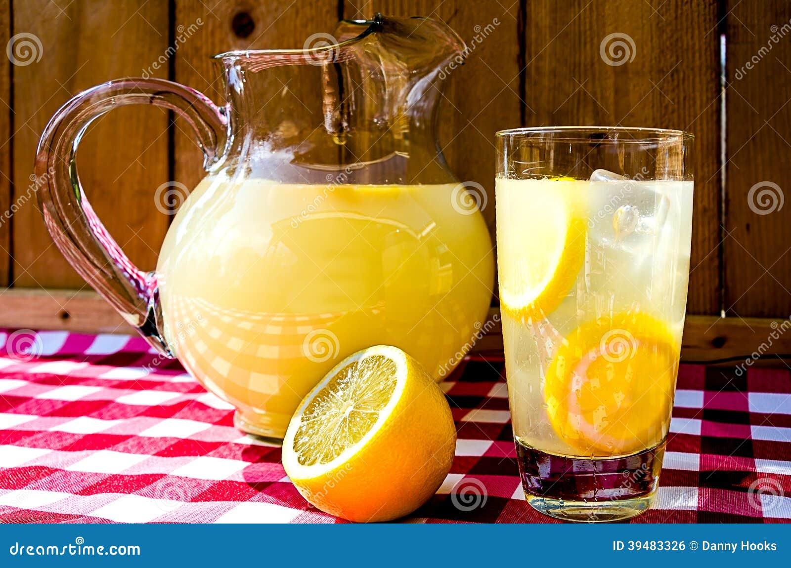 Lemonade And Pitcher Stock Photo Image Of Lemon Sour