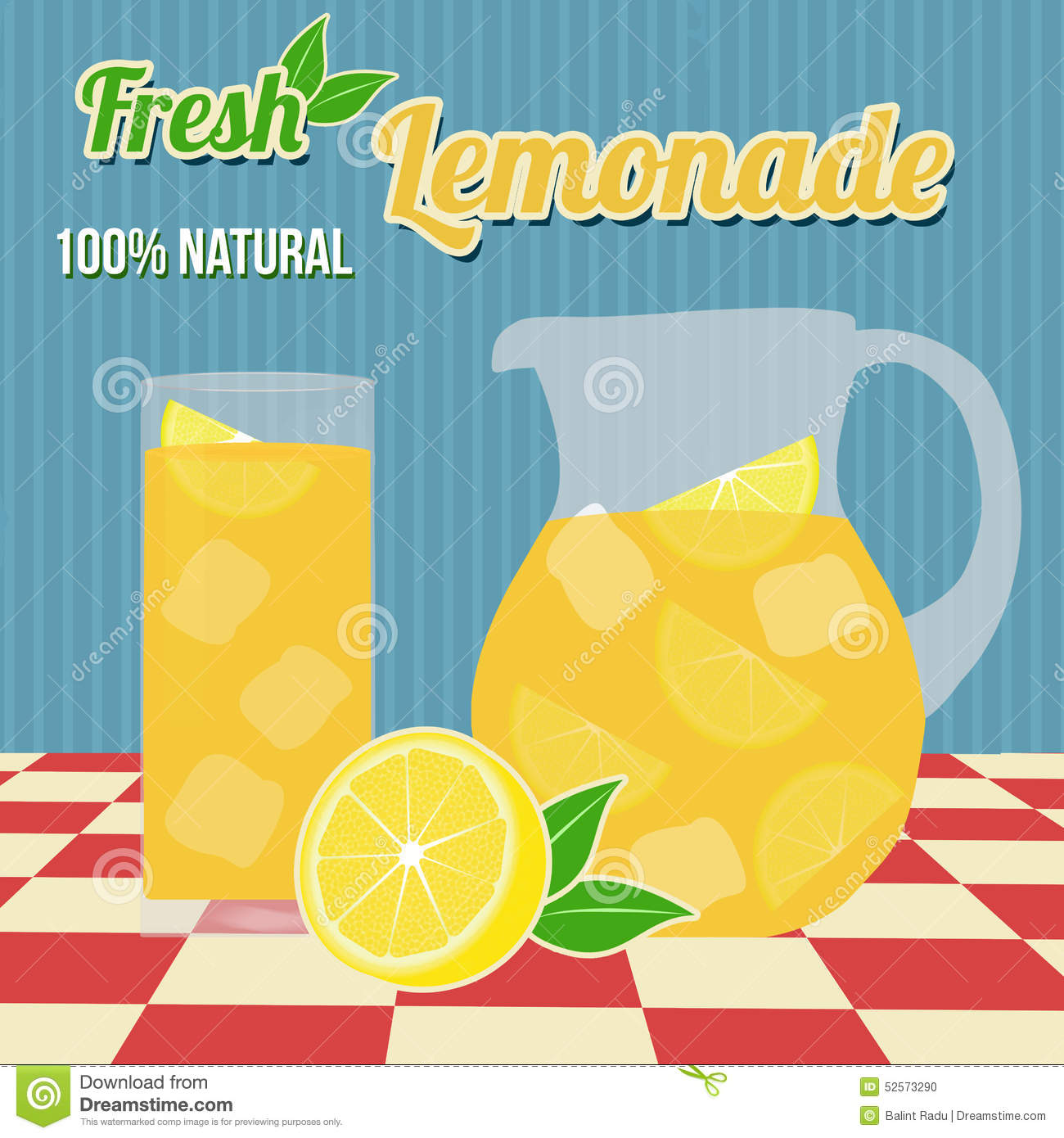 Lemonade Poster Stock Vector - Image: 52573290