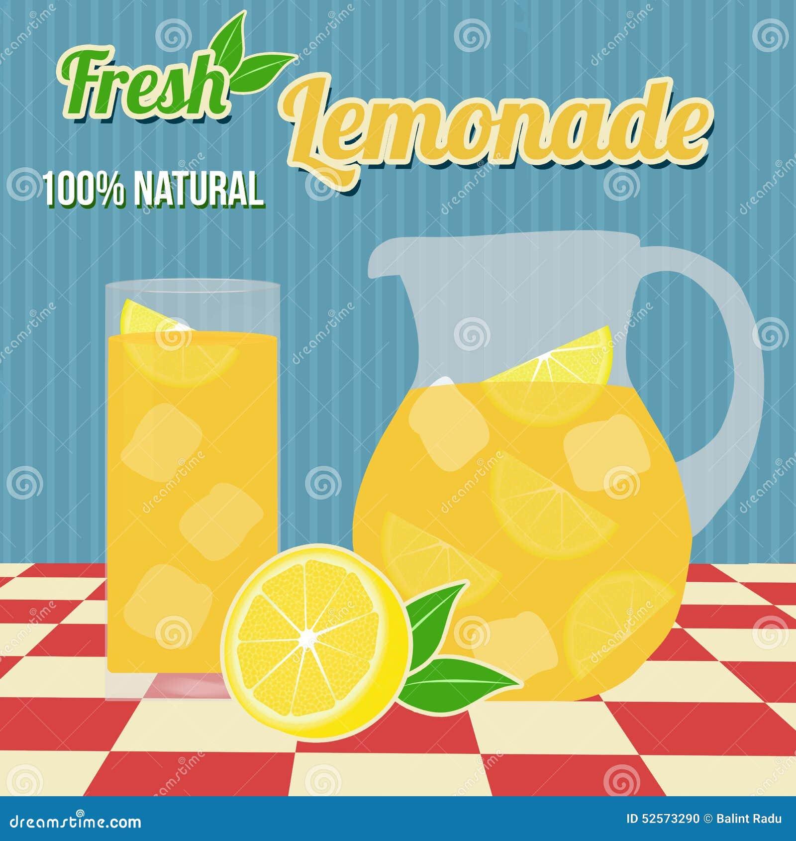 Lemonade Poster Stock Vector - Image: 39386498