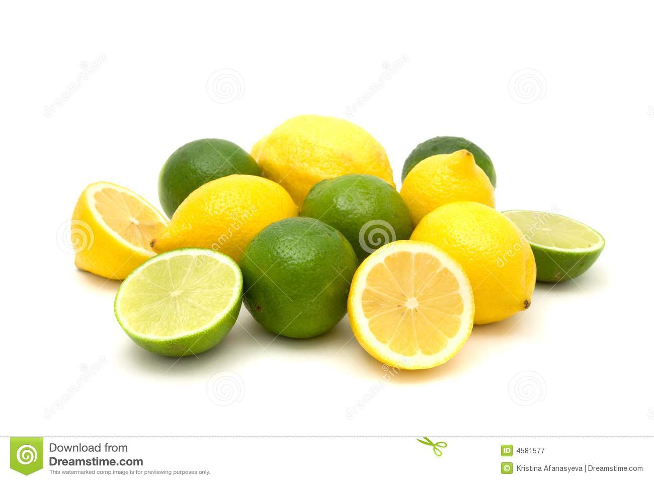 Lemons and Limes stock image. Image of health, macro ...