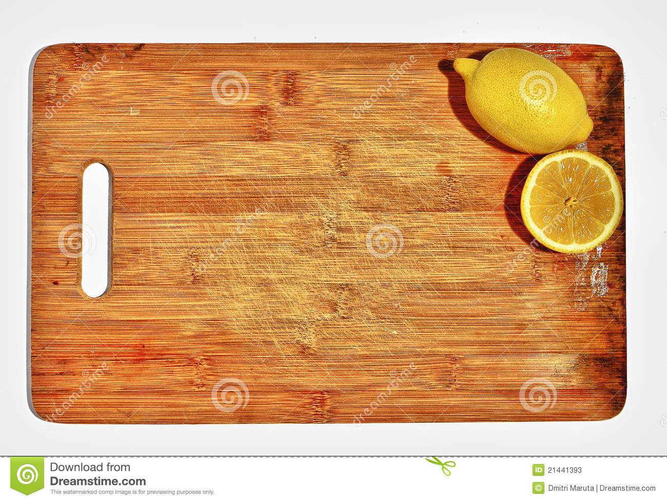 Download Lemons On Wooden Cutting Board Stock Image - Image of fruits, tart: 21441393
