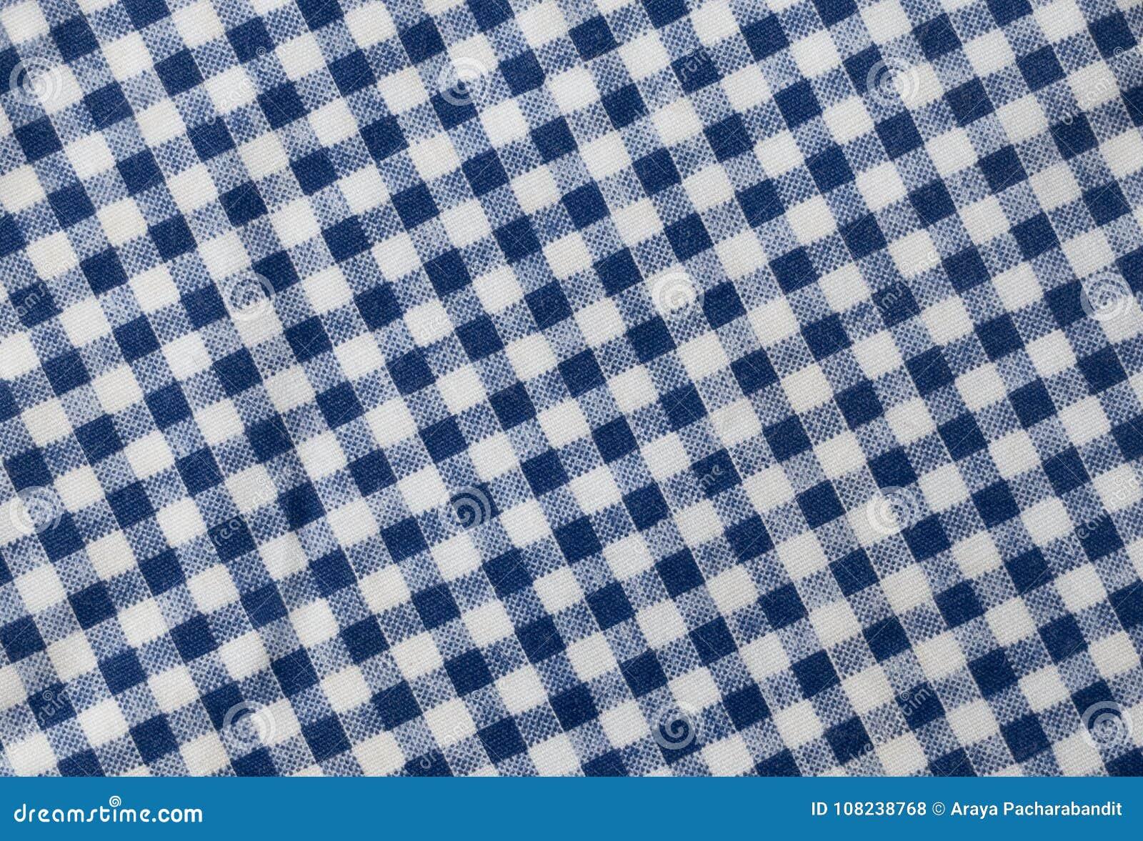 Lenhador azul e branco Plaid Pattern Background