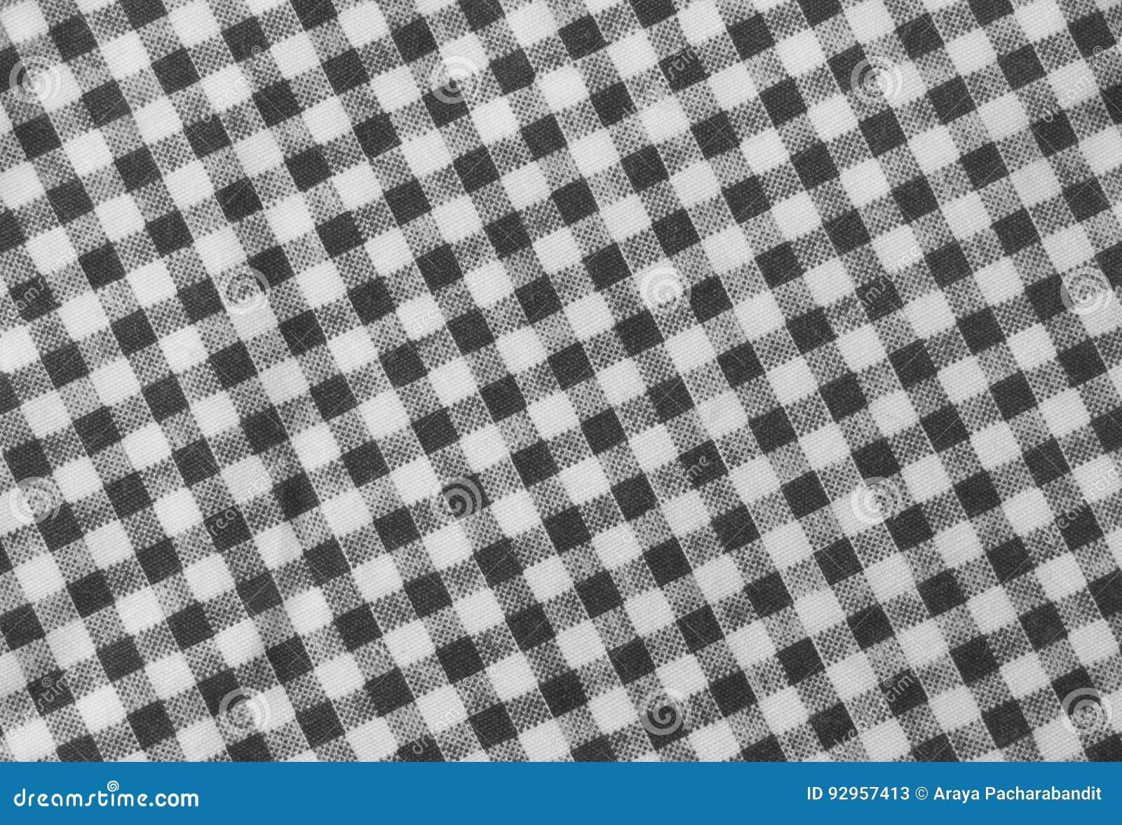 Lenhador preto e branco Plaid Seamless Pattern