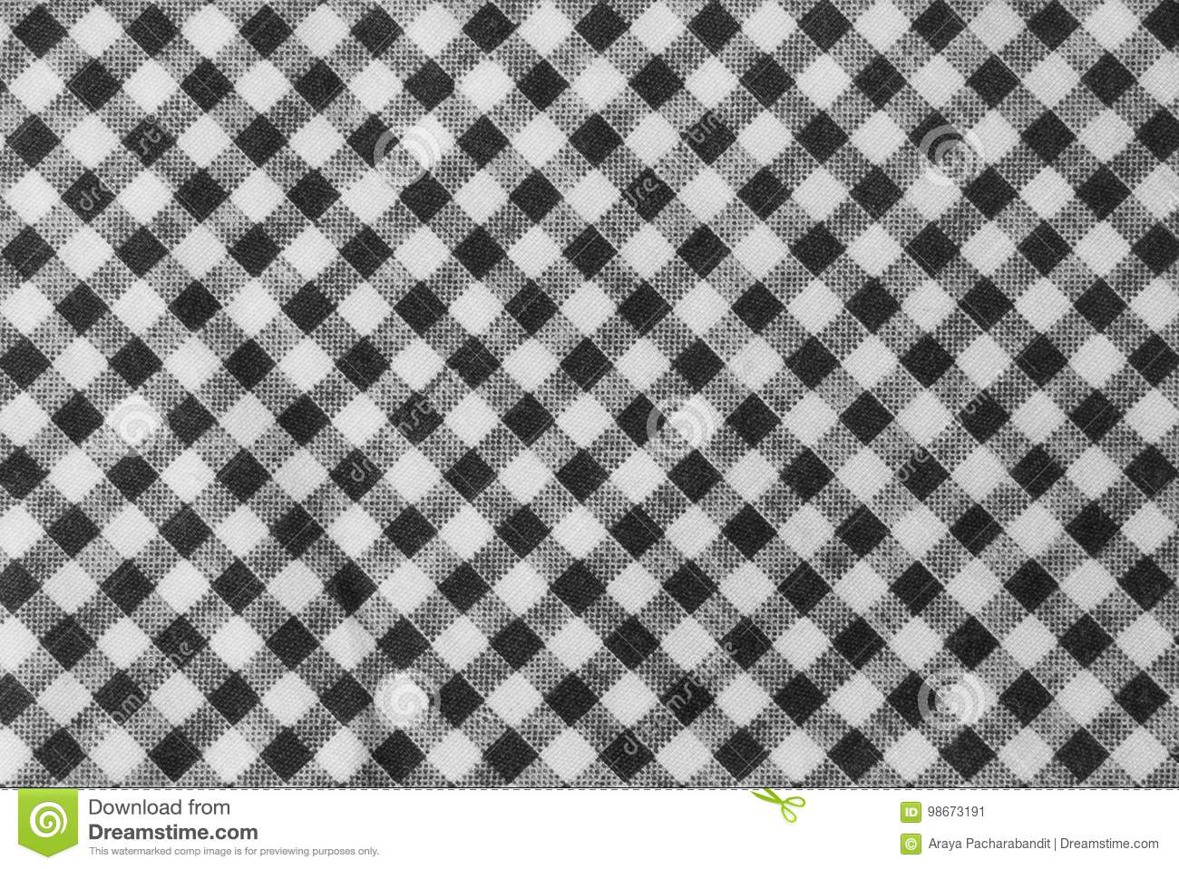 Lenhador preto e branco Plaid Seamless Pattern
