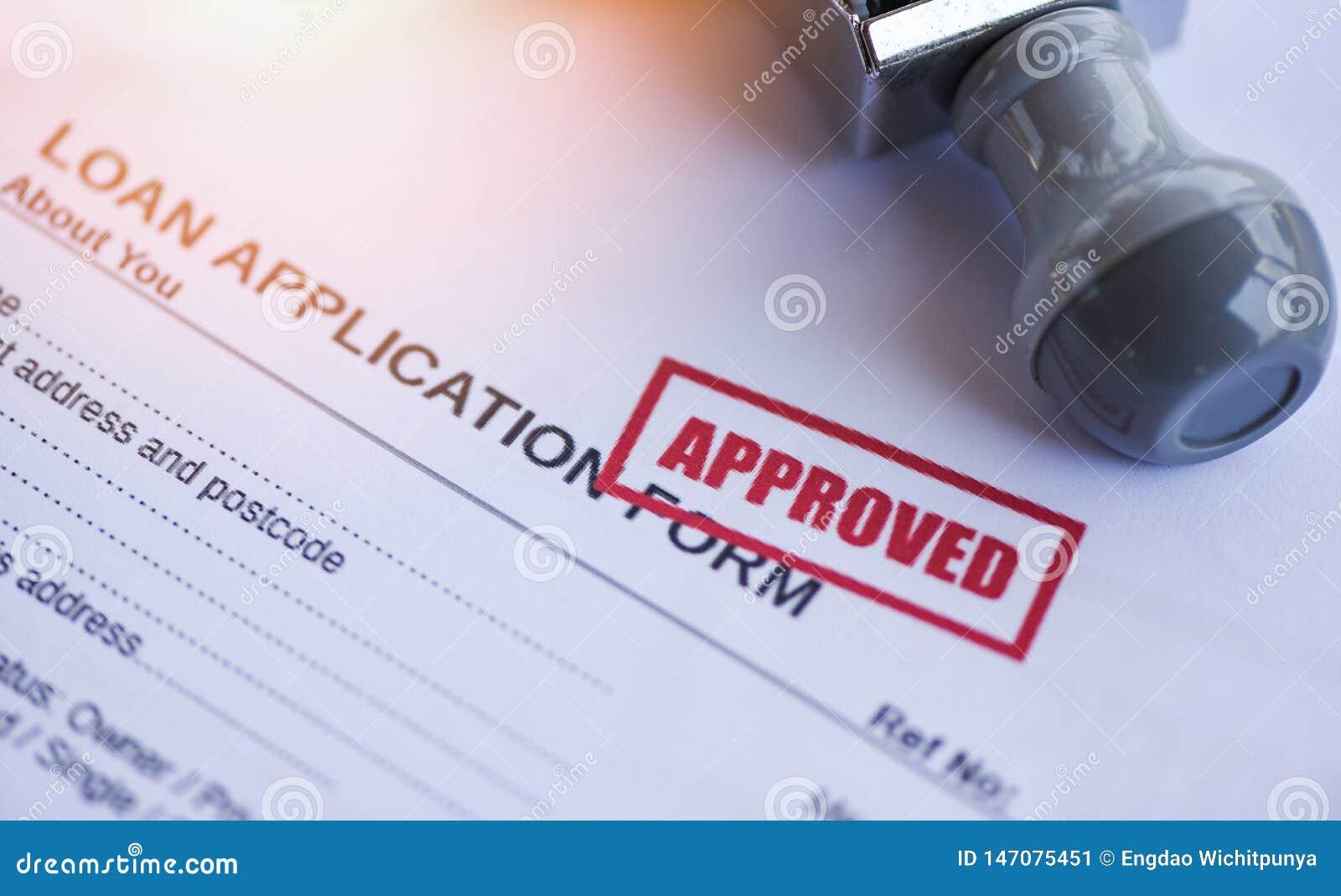 Leningsgoedkeuring/financieel leningsaanvraagformulier voor geldschieter en lener voor het landgoed van de hulpInvesteringsbank