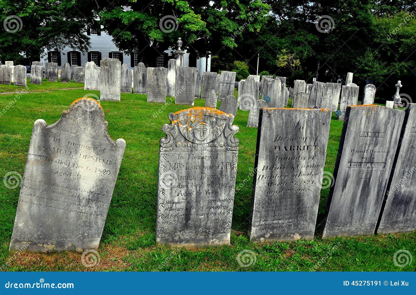 Lenox, MA: Gravestones at Church on the Hill
