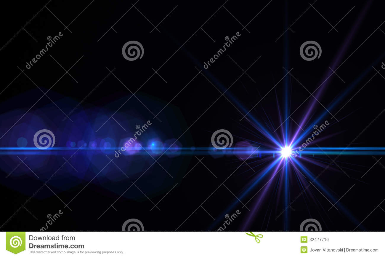 Lens flare effect stock photo image 32477710 for When was space made