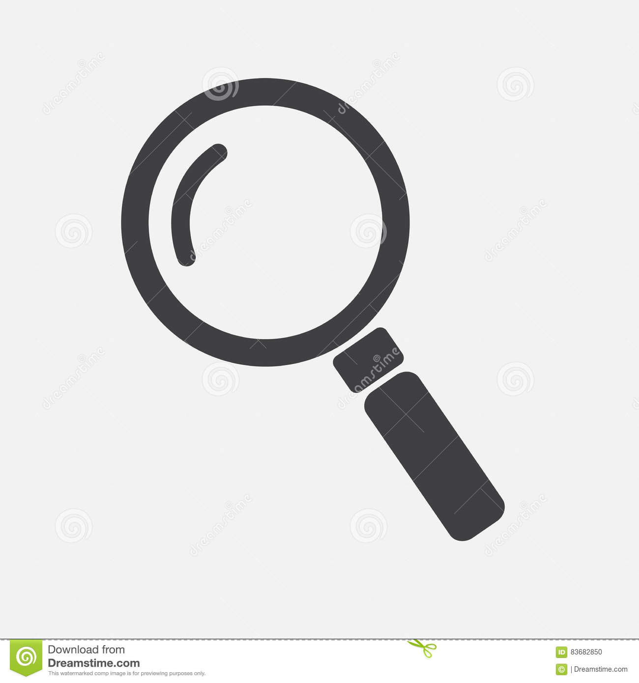 Lens magnifier , magnifying glass , search Icon Vector Illustration on the white background.