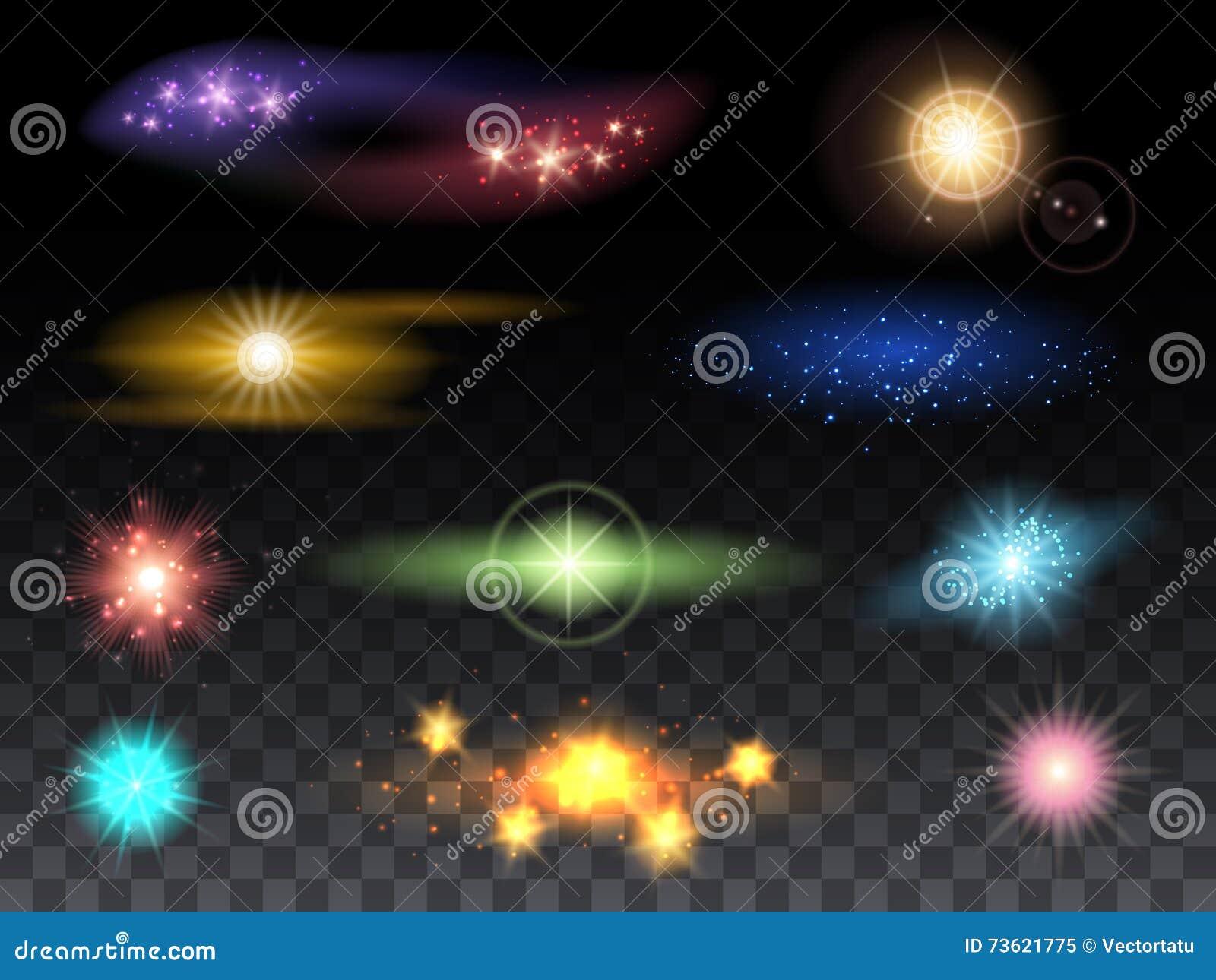 Lens signalljuseffekter och glödande ljusa effekter