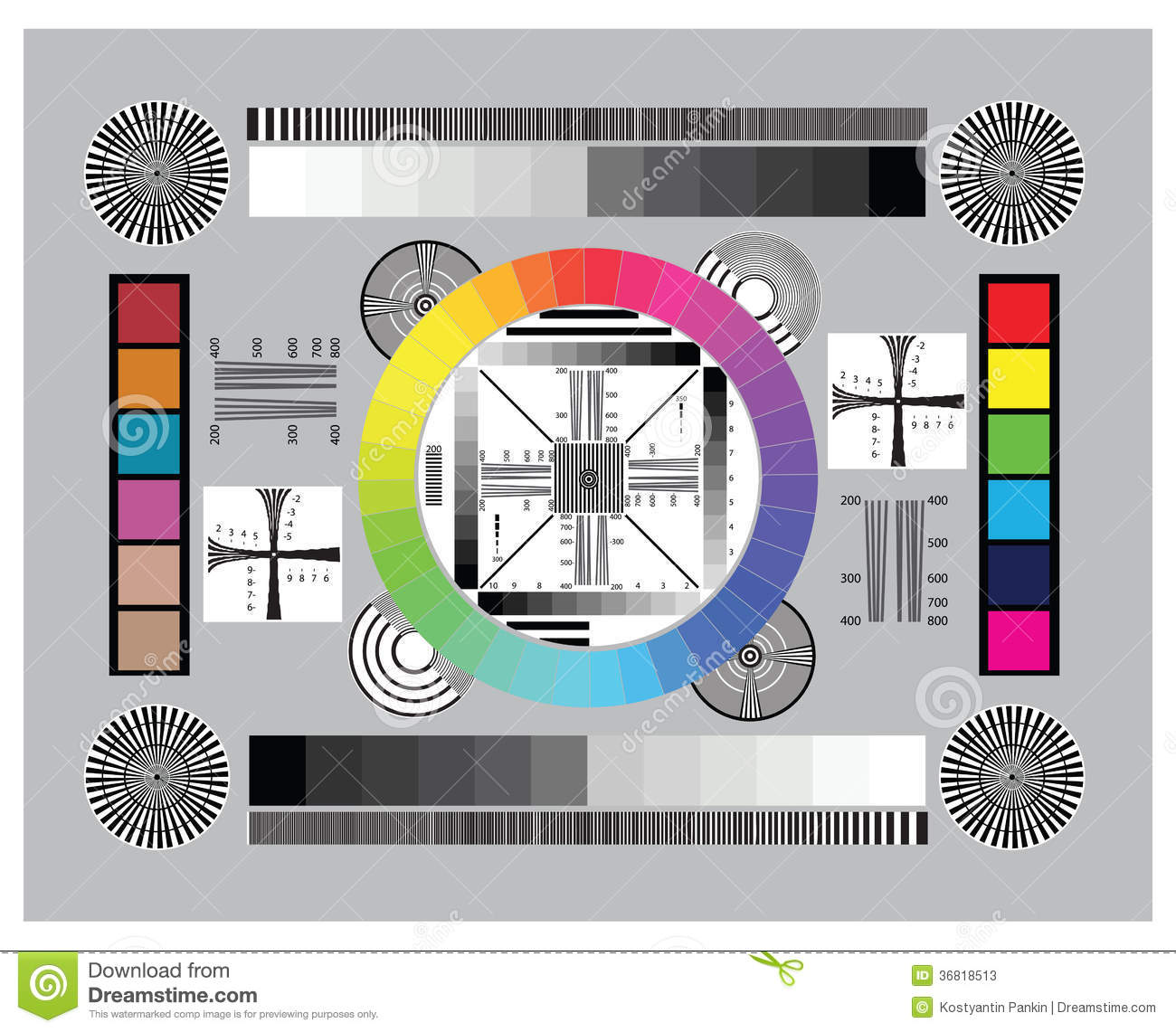 Lens Test Chart Stock Photos - Image: 36818513
