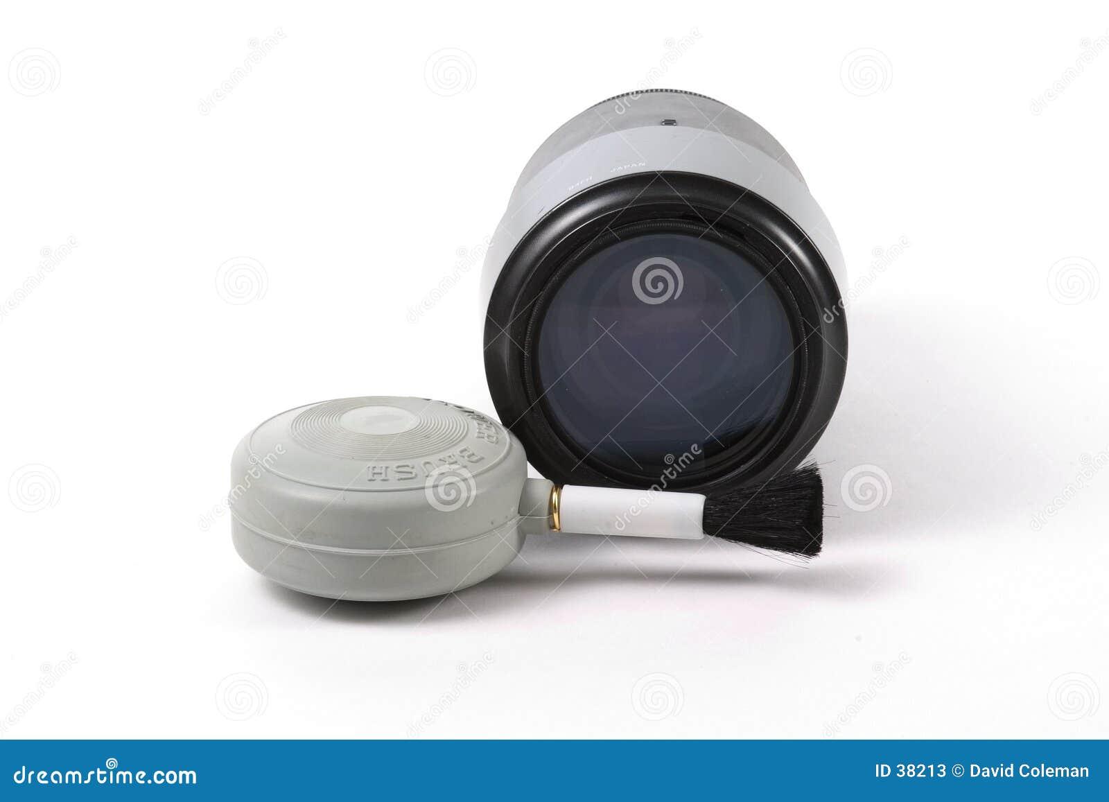 Lense e escova do ventilador