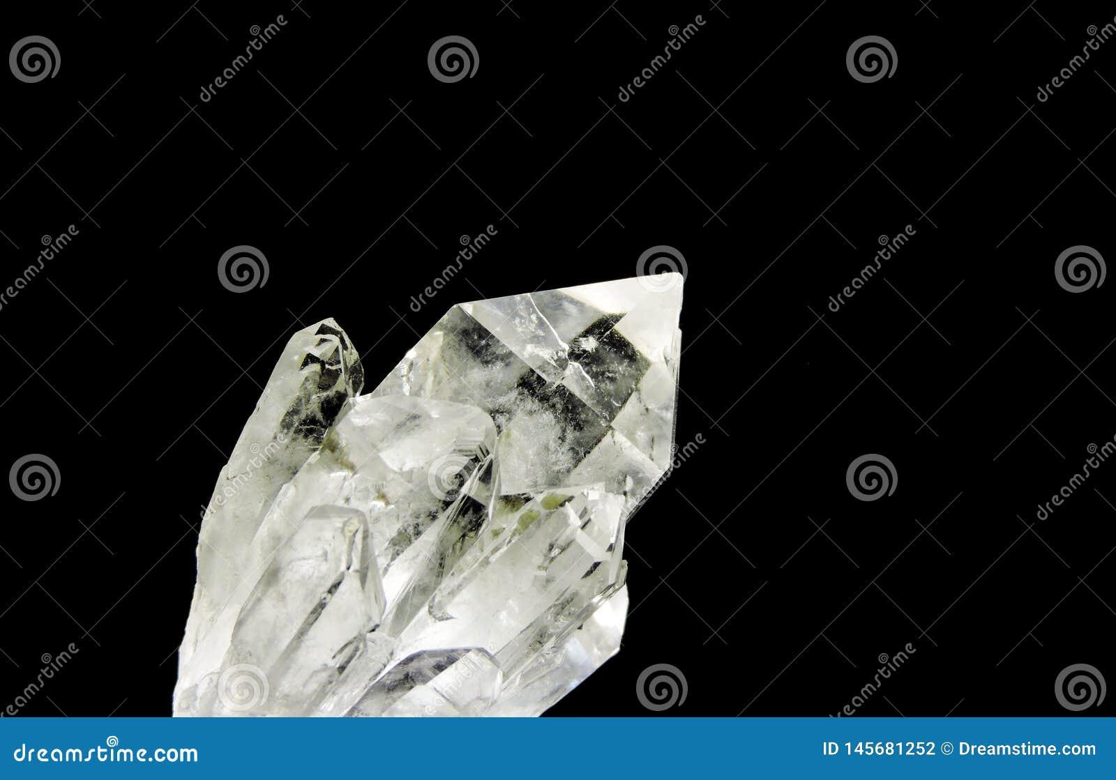 Lense macro claro del cristal de cuarzo
