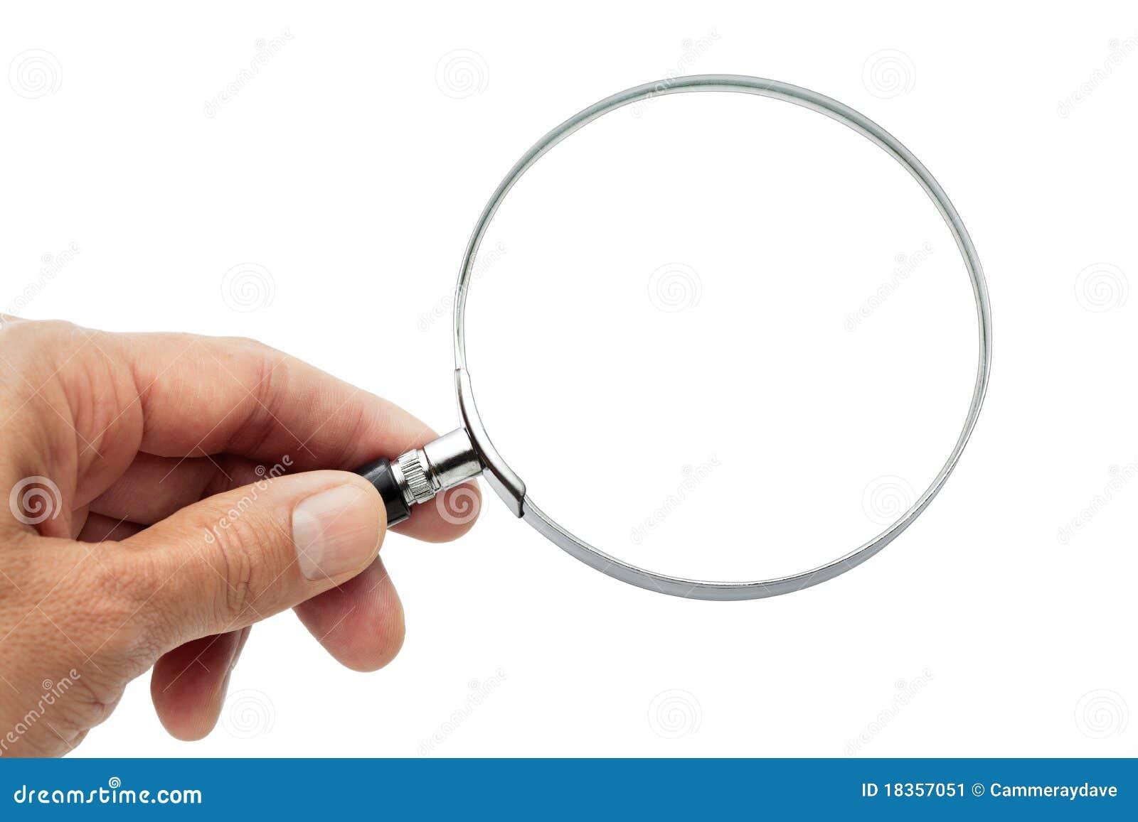 Lente d 39 ingrandimento della holding della mano immagine - Specchio con lente di ingrandimento ...