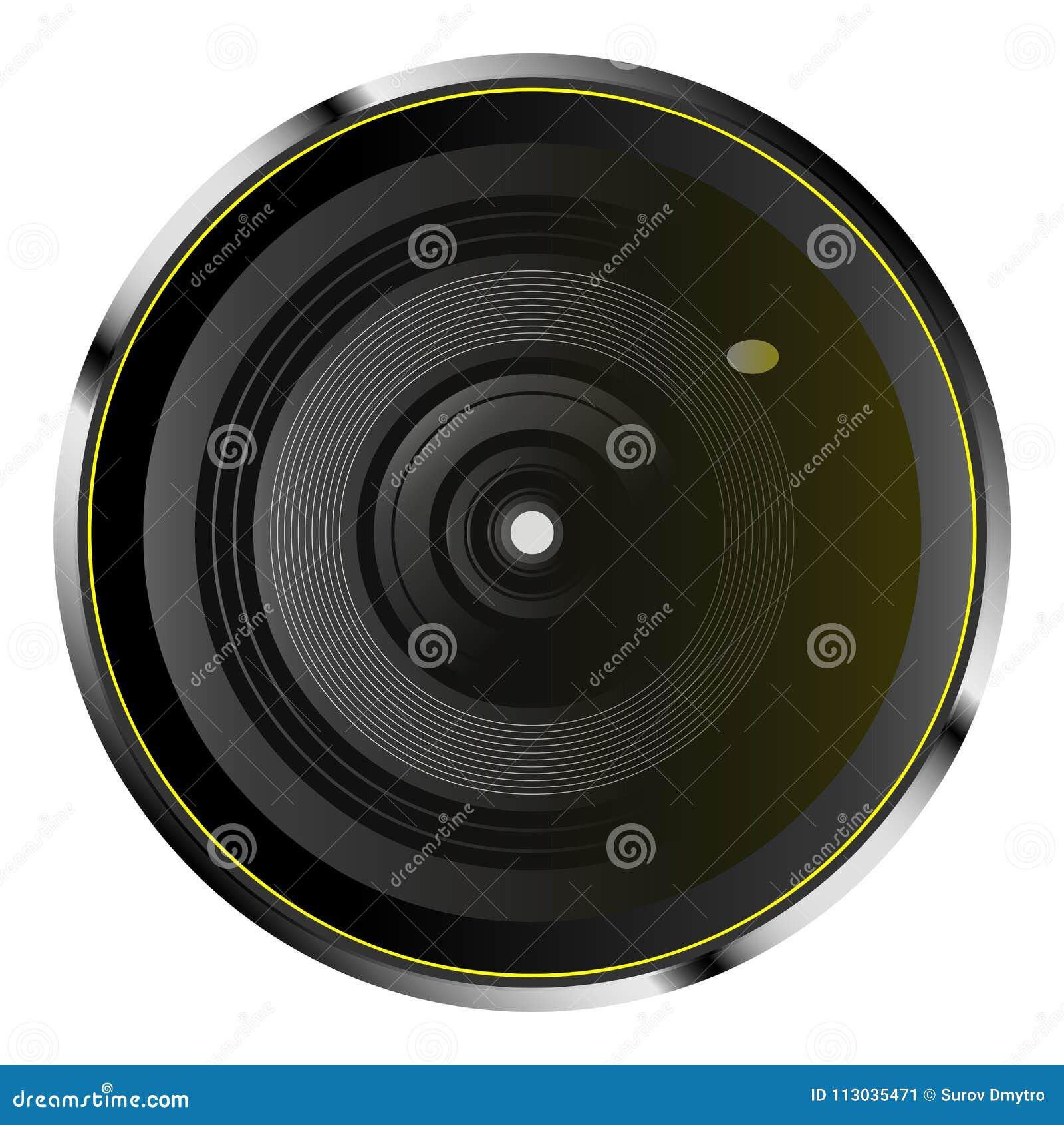 Lente de cámara óptica realista