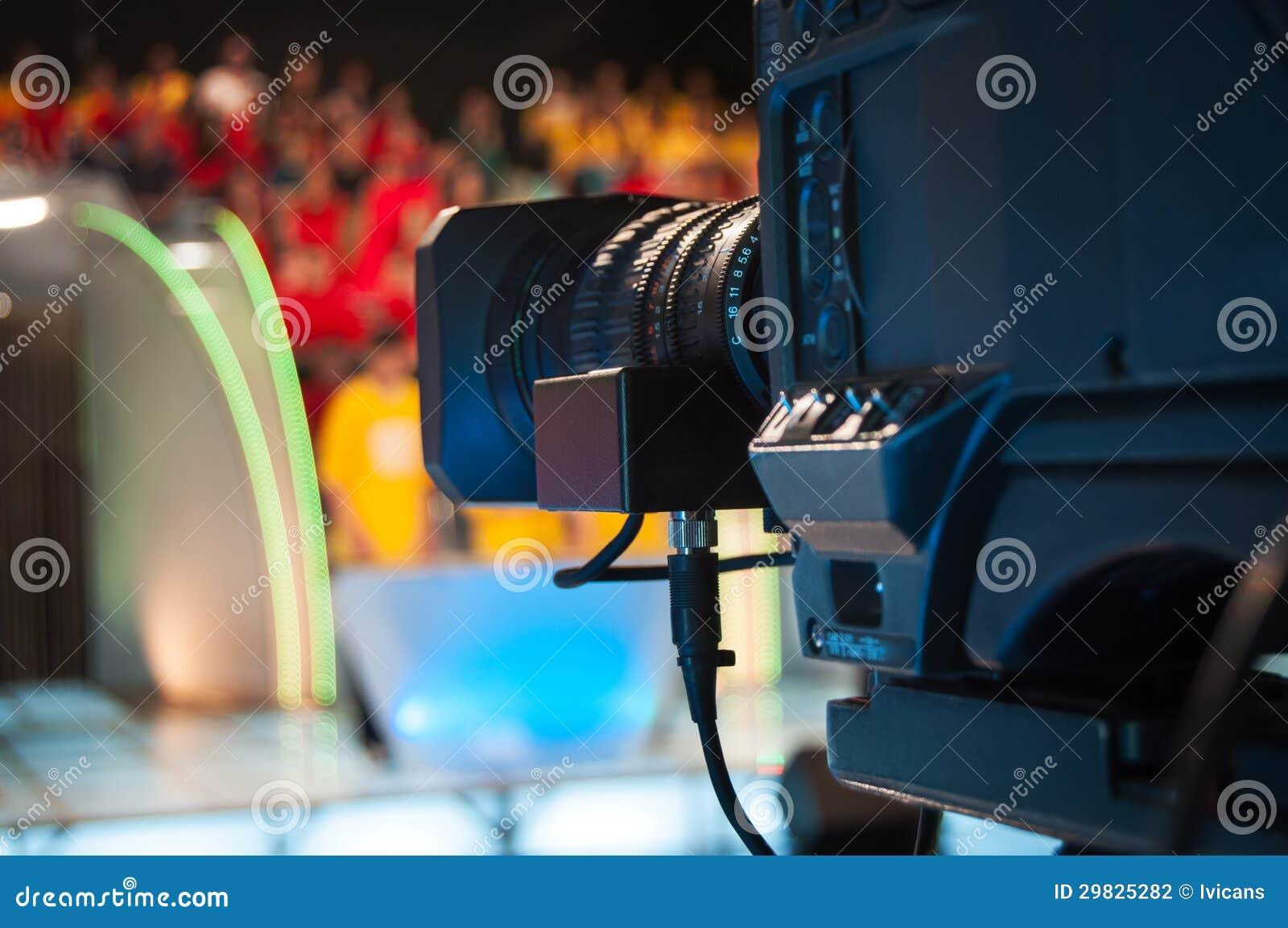Câmera do estúdio da televisão