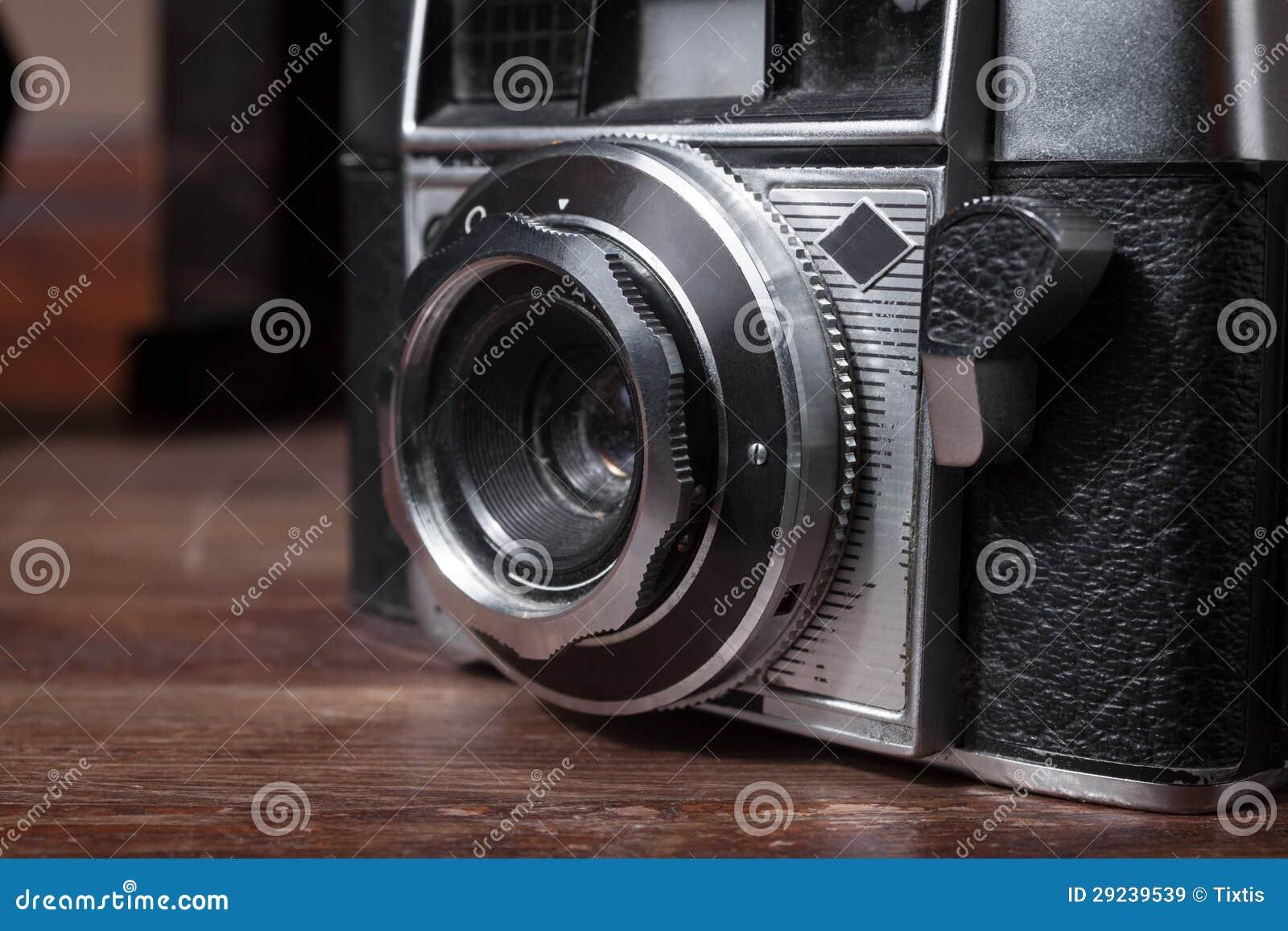 Download Lente De Uma Câmera Do Vintage Imagem de Stock - Imagem de viewfinder, flash: 29239539