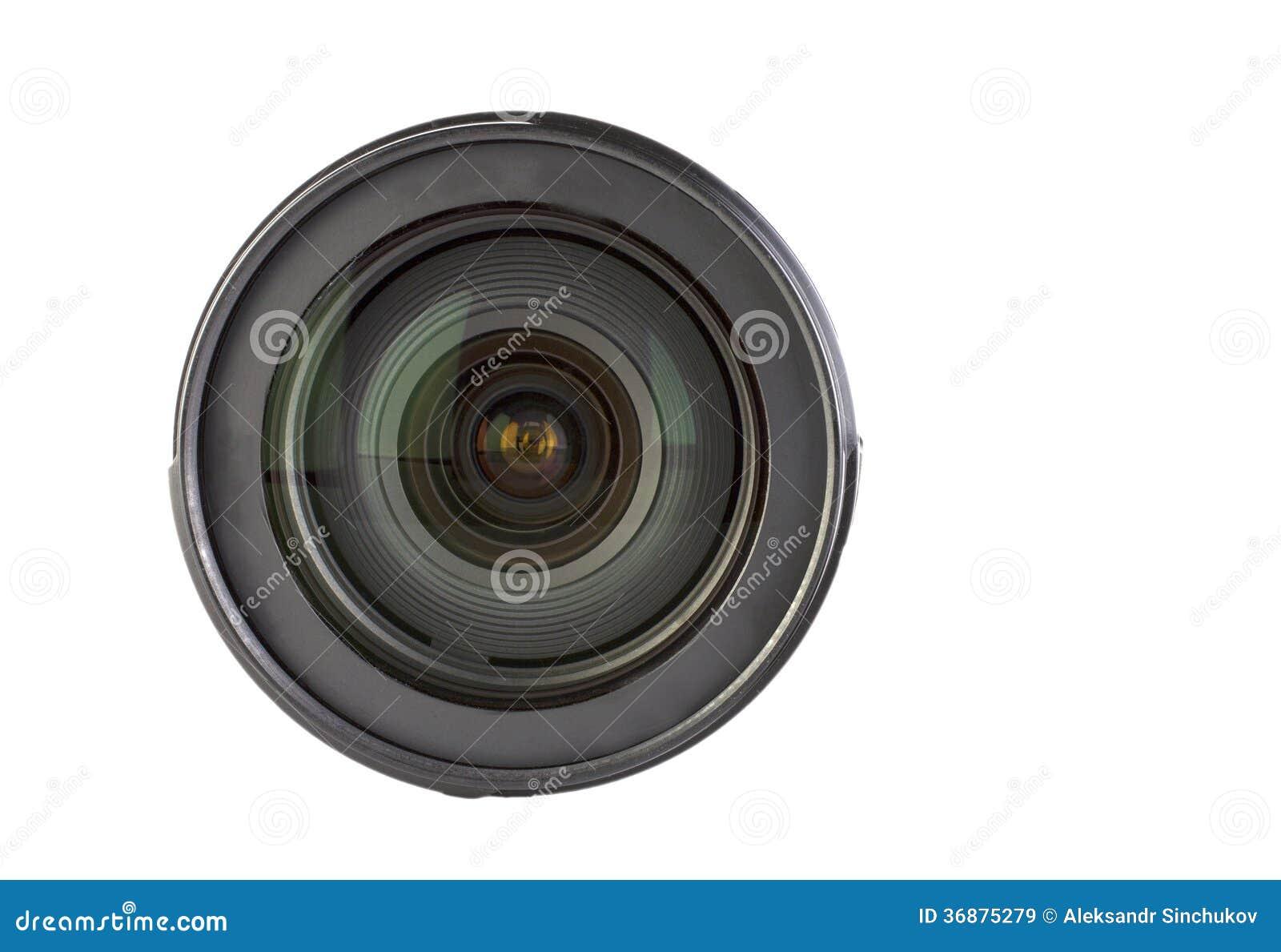 Download Lente isolata immagine stock. Immagine di vetro, obiettivo - 36875279