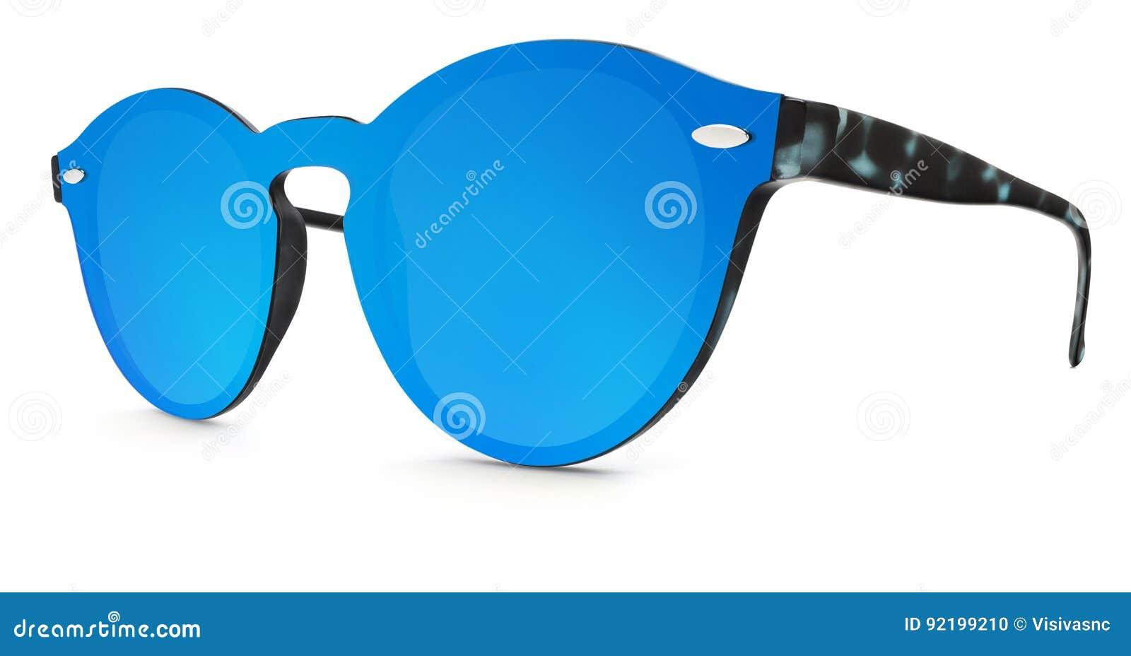Occhiali Bianco Lenti Macchiate Specchio Degli Sole Su Blu Dello Da b7vYf6gy