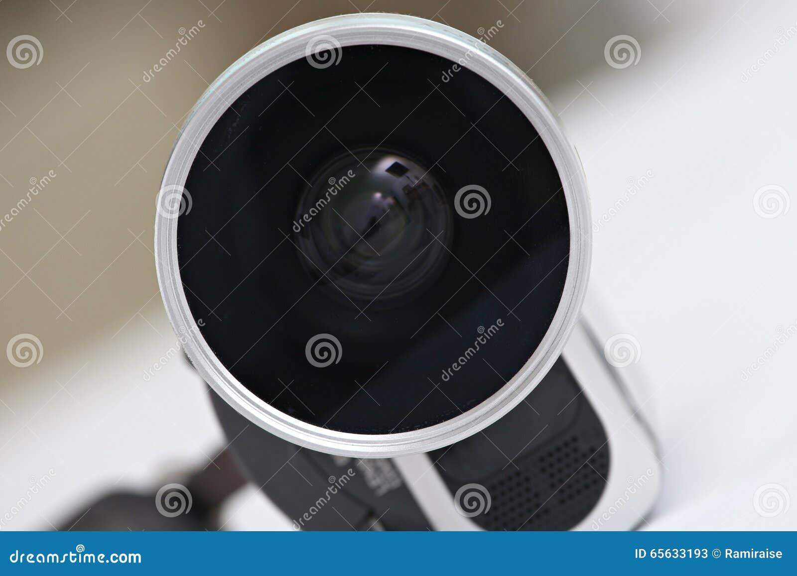 Lentille d une caméra vidéo