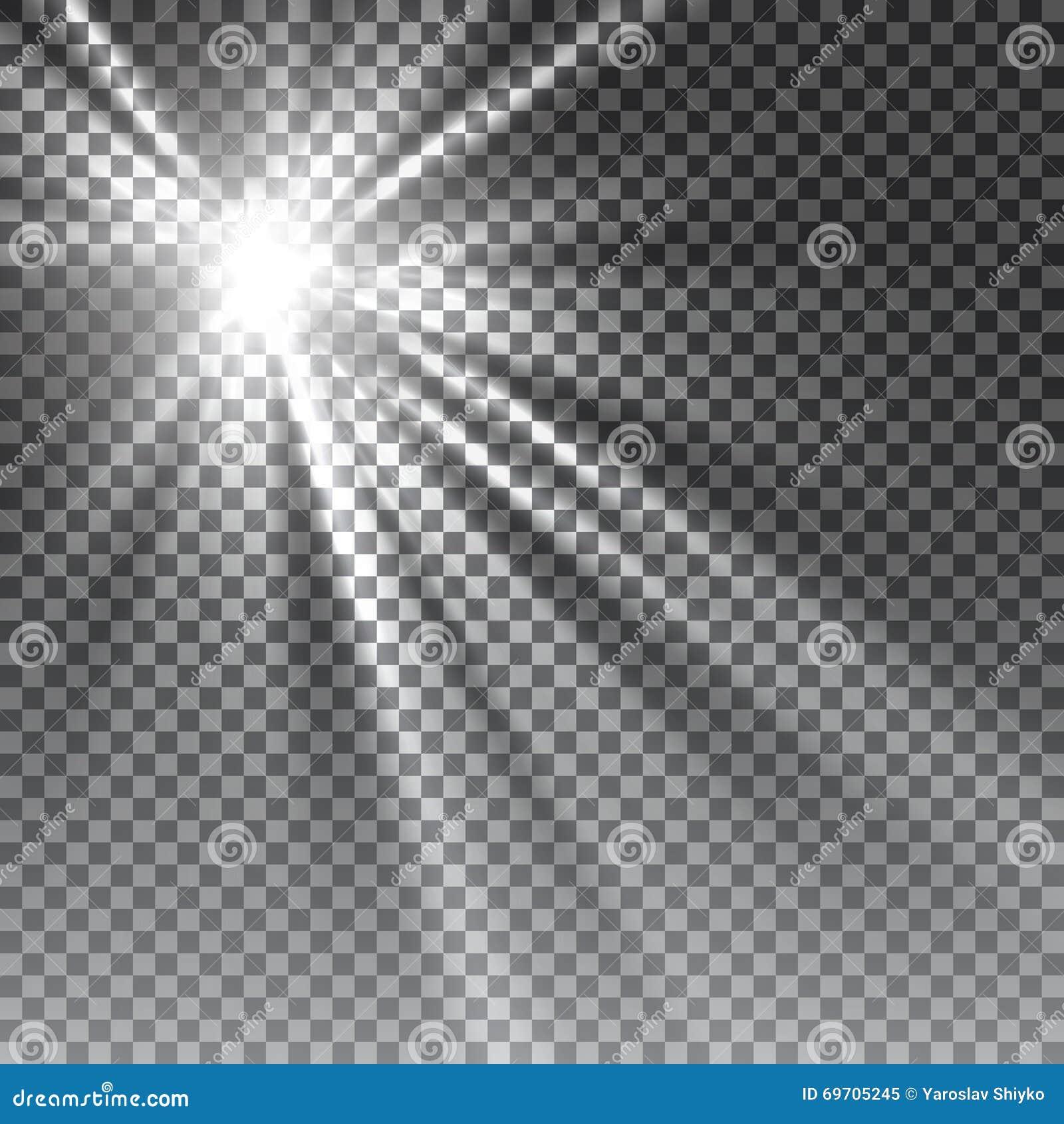 Lentille transparente de special de lumière du soleil de vecteur