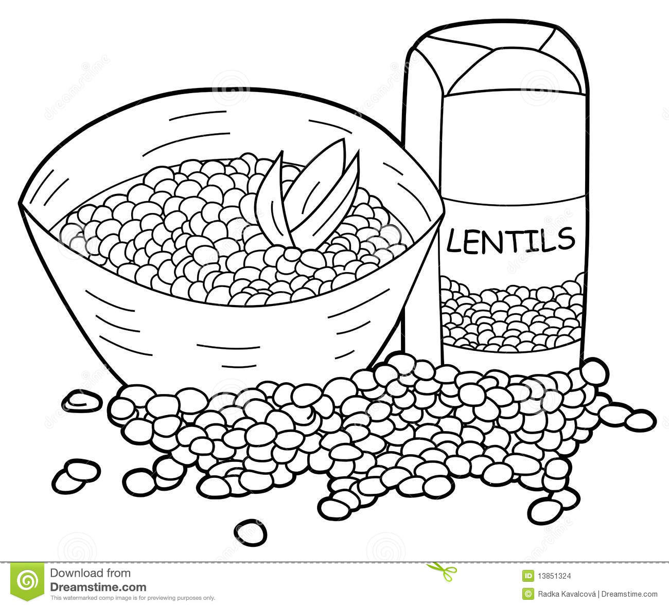 Lentils Stock Illustration Image Of Clipart Black Healthy