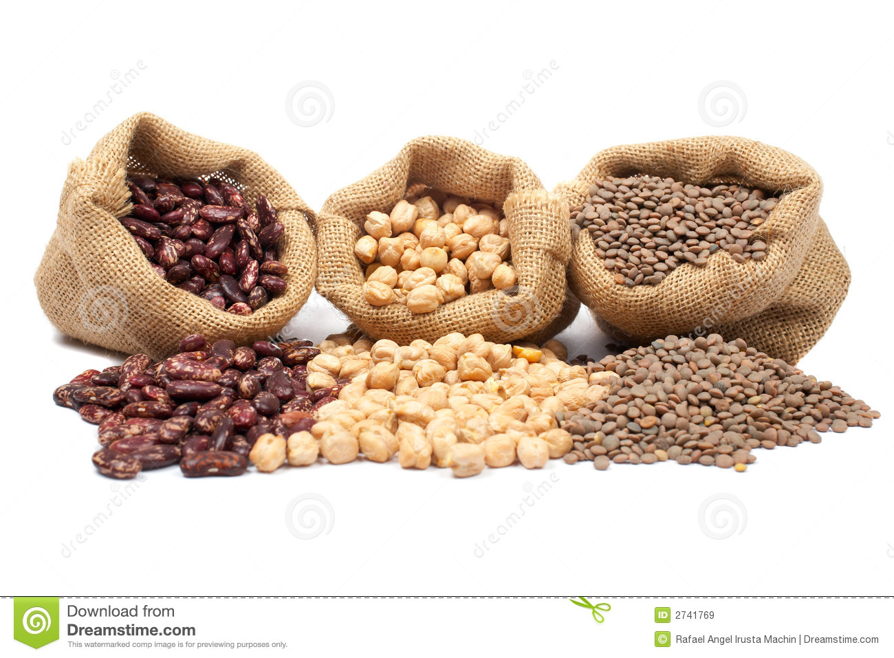 Lentils, chickpeas and beans