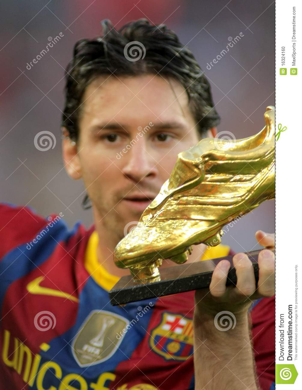 Leo Messi of FC Barcelona editorial image. Image of soccer - 16324160