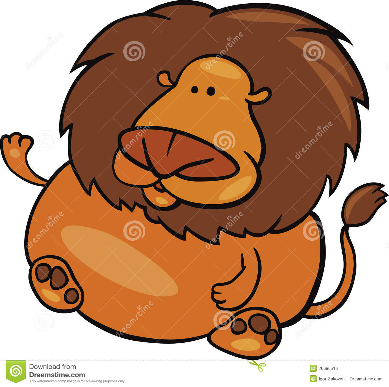 Leo zodiac sign stock vector. Image of overweight, telling ...
