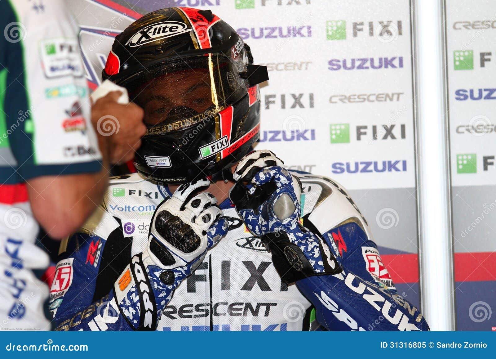 Leon Camier #2 on Suzuki GSX-R1000 Team Fixi Crescent Suzuki Superbike WSBK