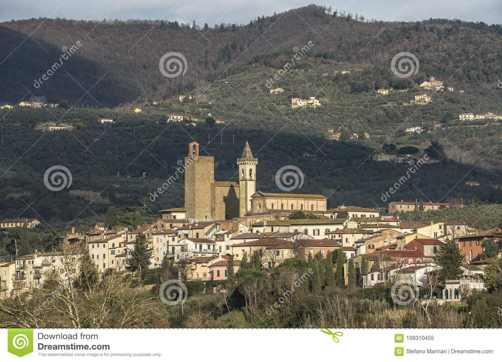 Leonardo da Vinci-` s Stadt in Toskana Italien