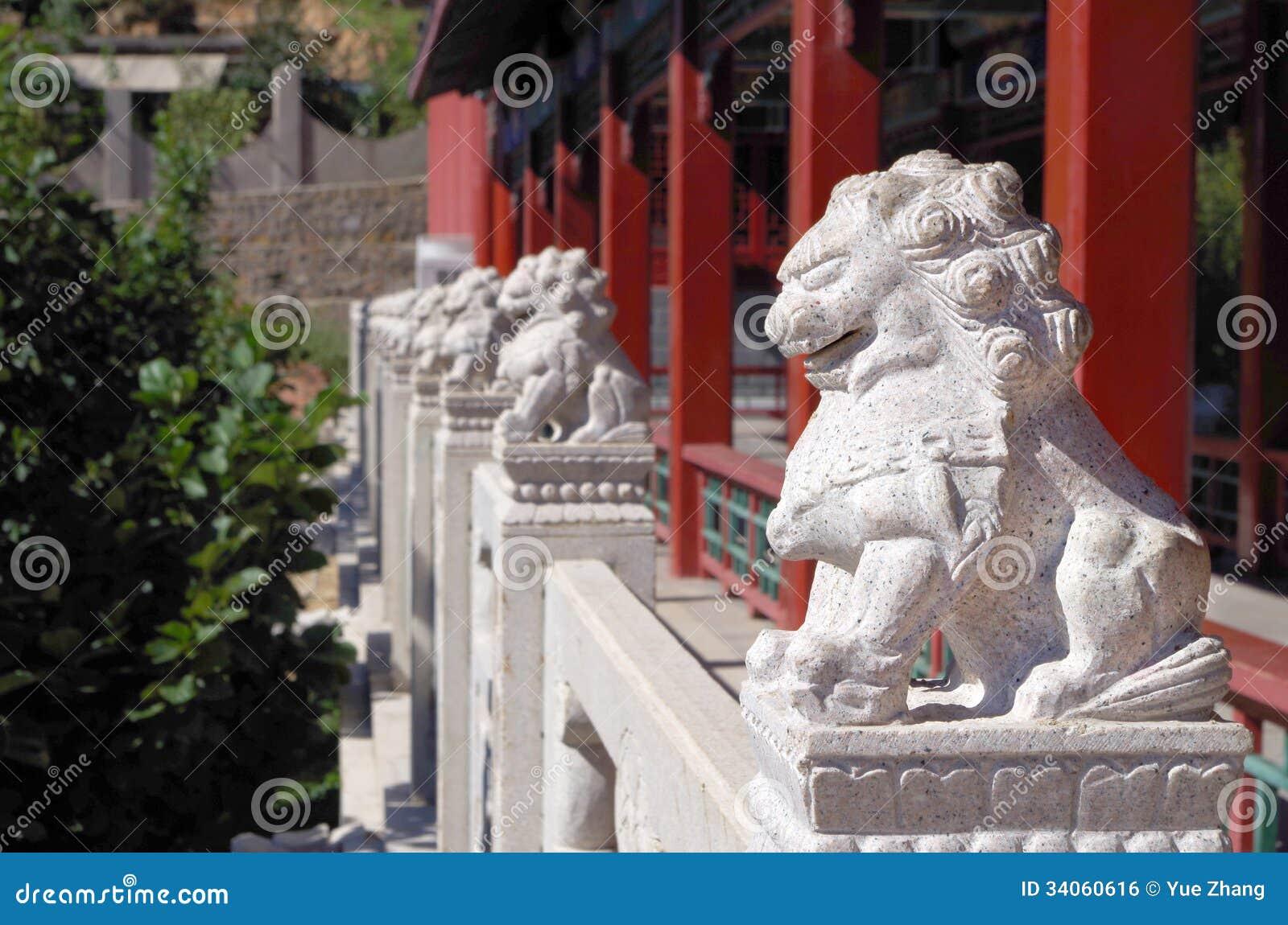 Leoni cinesi del guardiano immagine stock libera da for Oggetti tradizionali cinesi