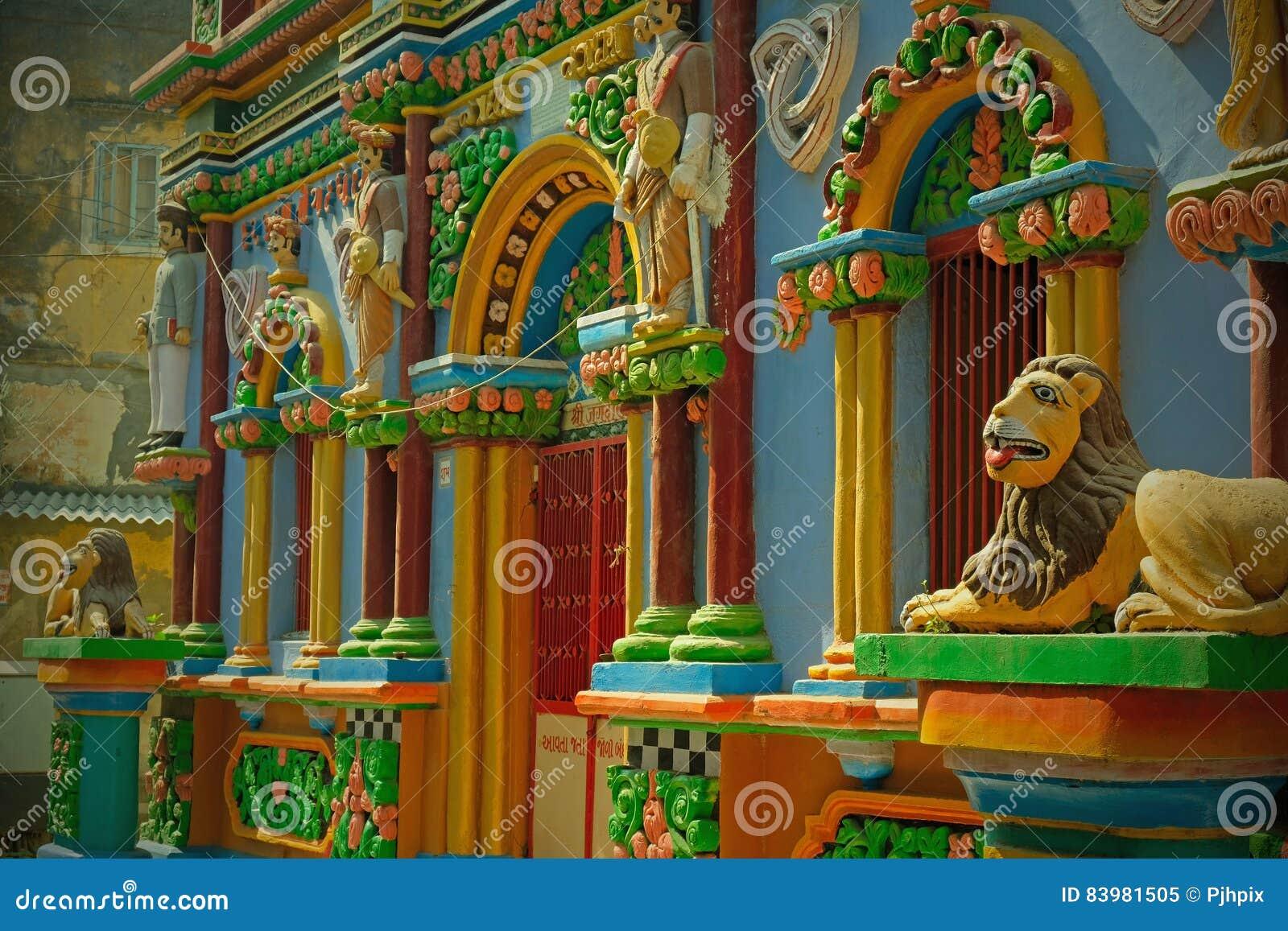Leoni Portoghesi Decorativi In India Immagine Stock