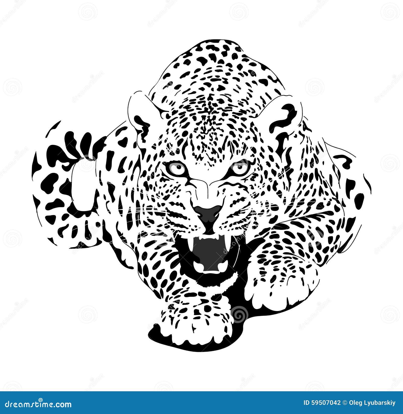 Гепард эскиз на тату
