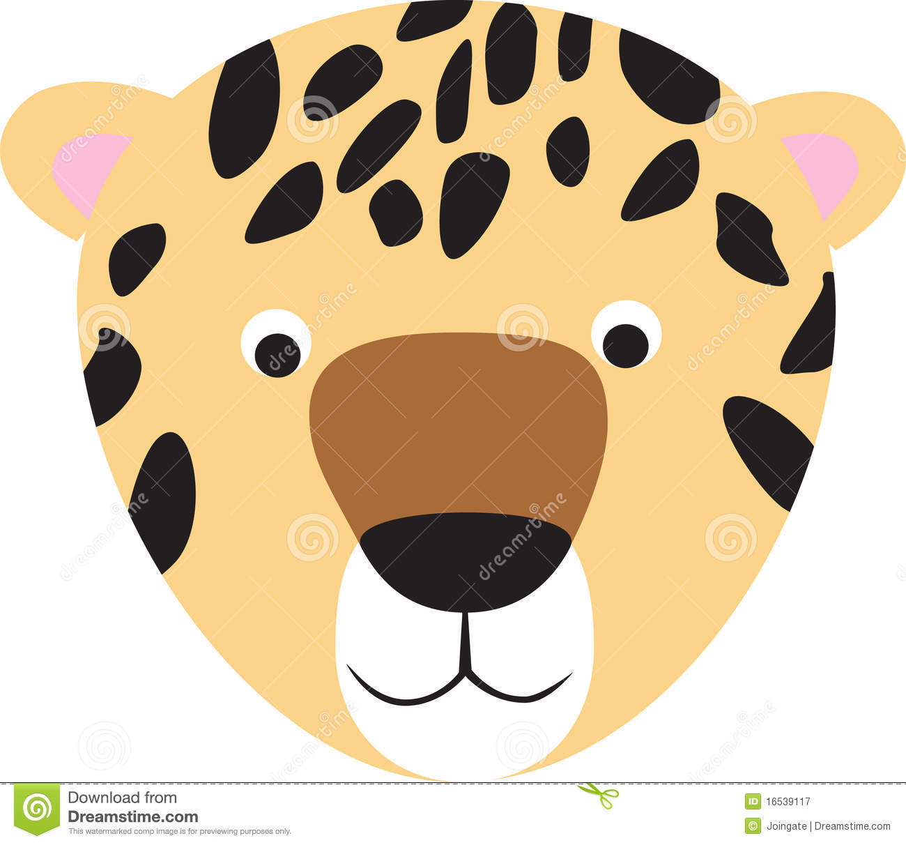 Leopard Or Cheetah Cartoon Face Royalty Free Stock Photography Image