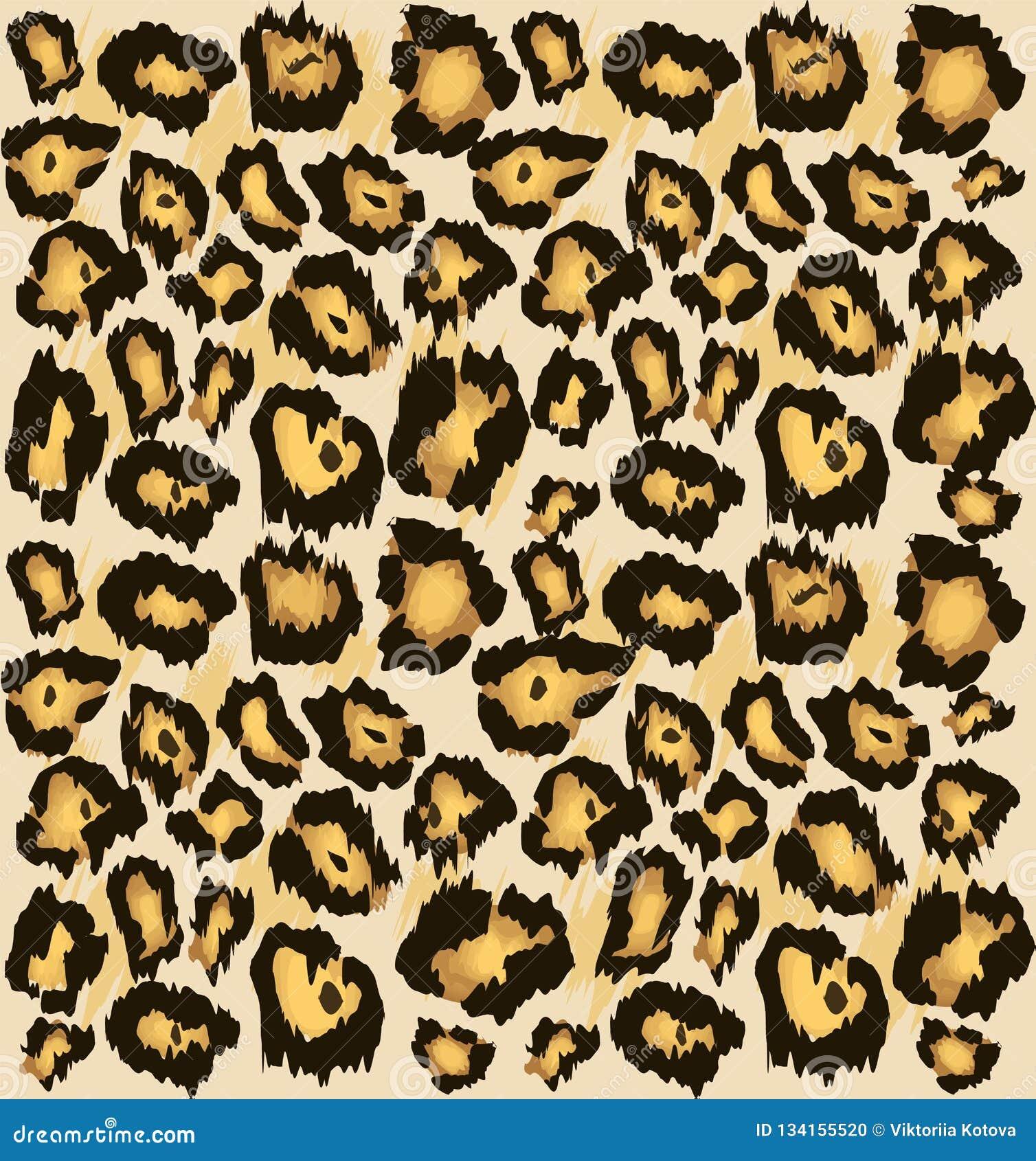 Leopard Cheetah Skin Seamless Pattern,   Stylized Spotted