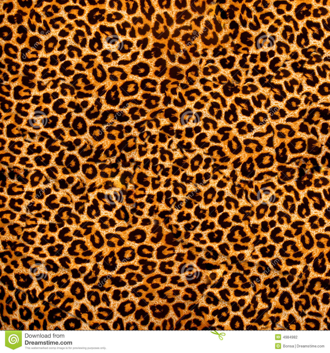 Leopard Fabric Stock Photo Image Of Fuzzy Leather Brown