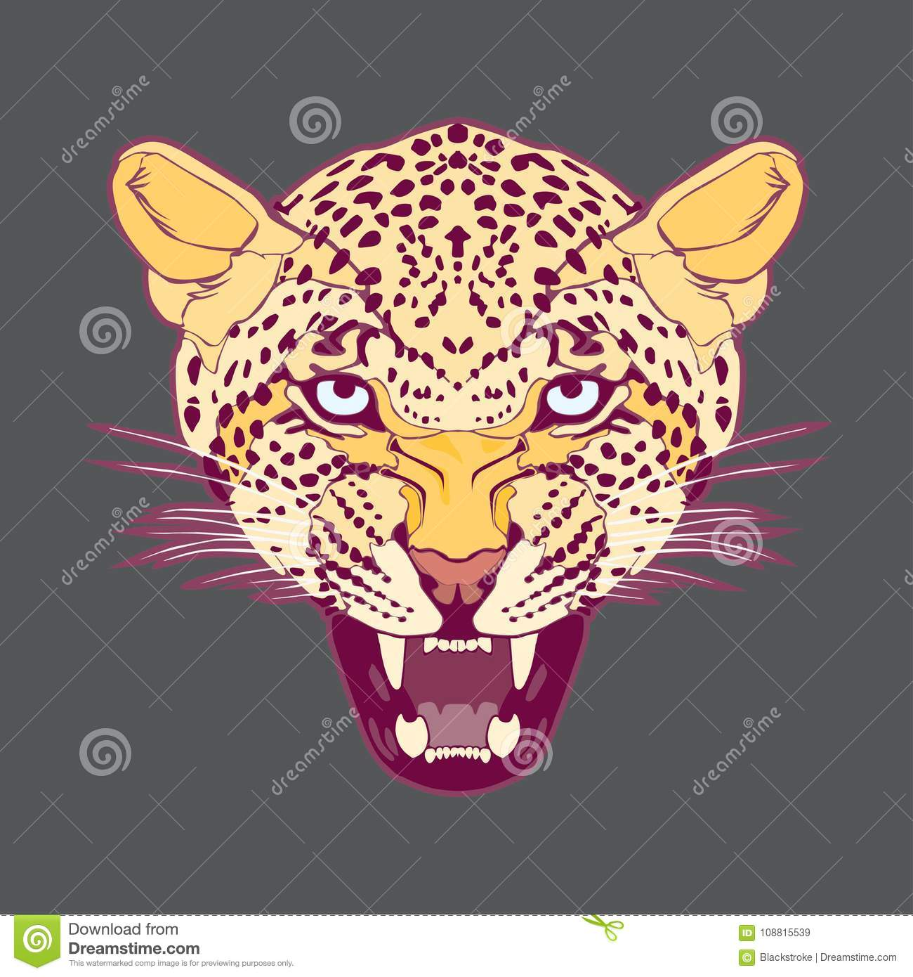 Leopard head– stock illustration – stock illustration file